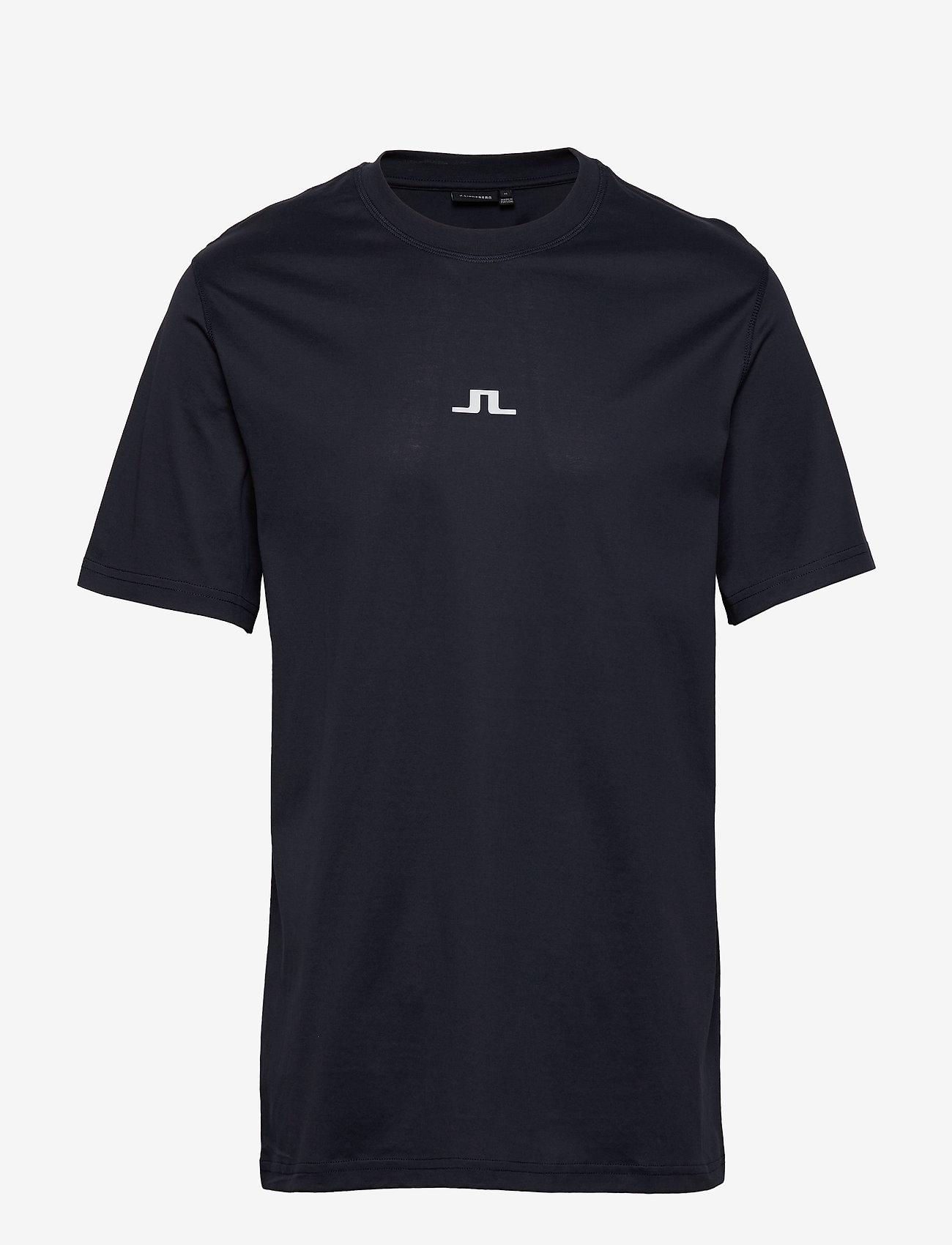 J. Lindeberg - Jordan Bridge t-shirt cotton - basic t-shirts - jl navy - 0