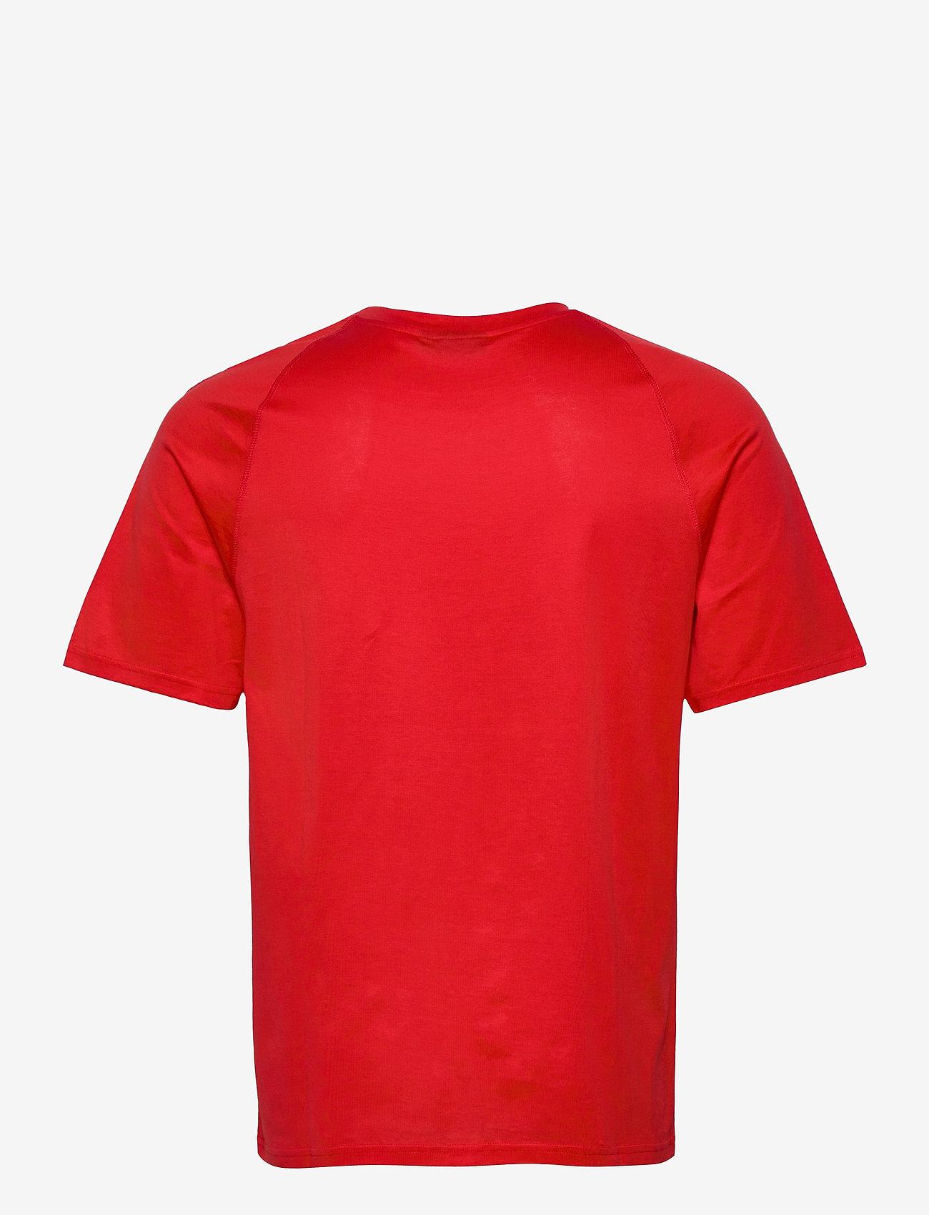 J. Lindeberg - Jordan Bridge t-shirt cotton - basic t-shirts - racing red - 1
