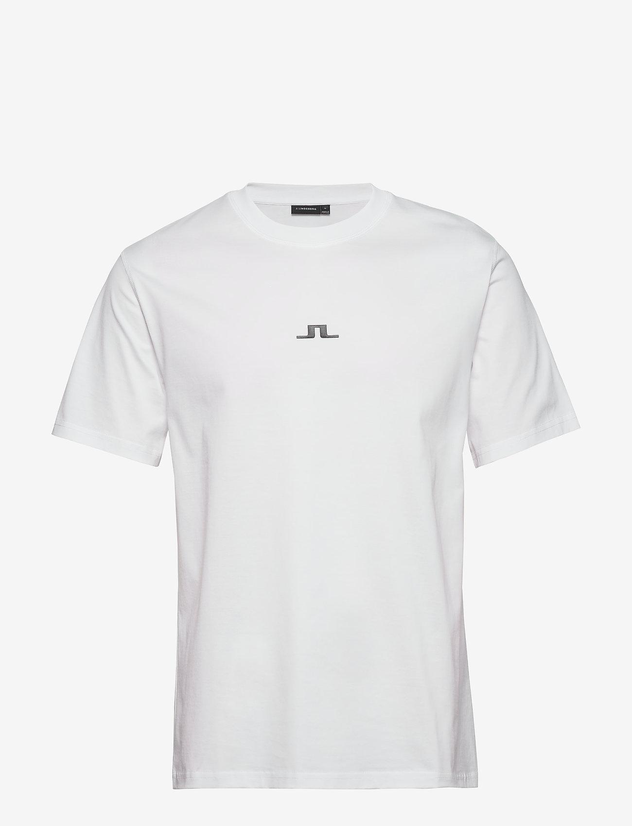J. Lindeberg - Jordan Bridge t-shirt cotton - basic t-shirts - white - 0