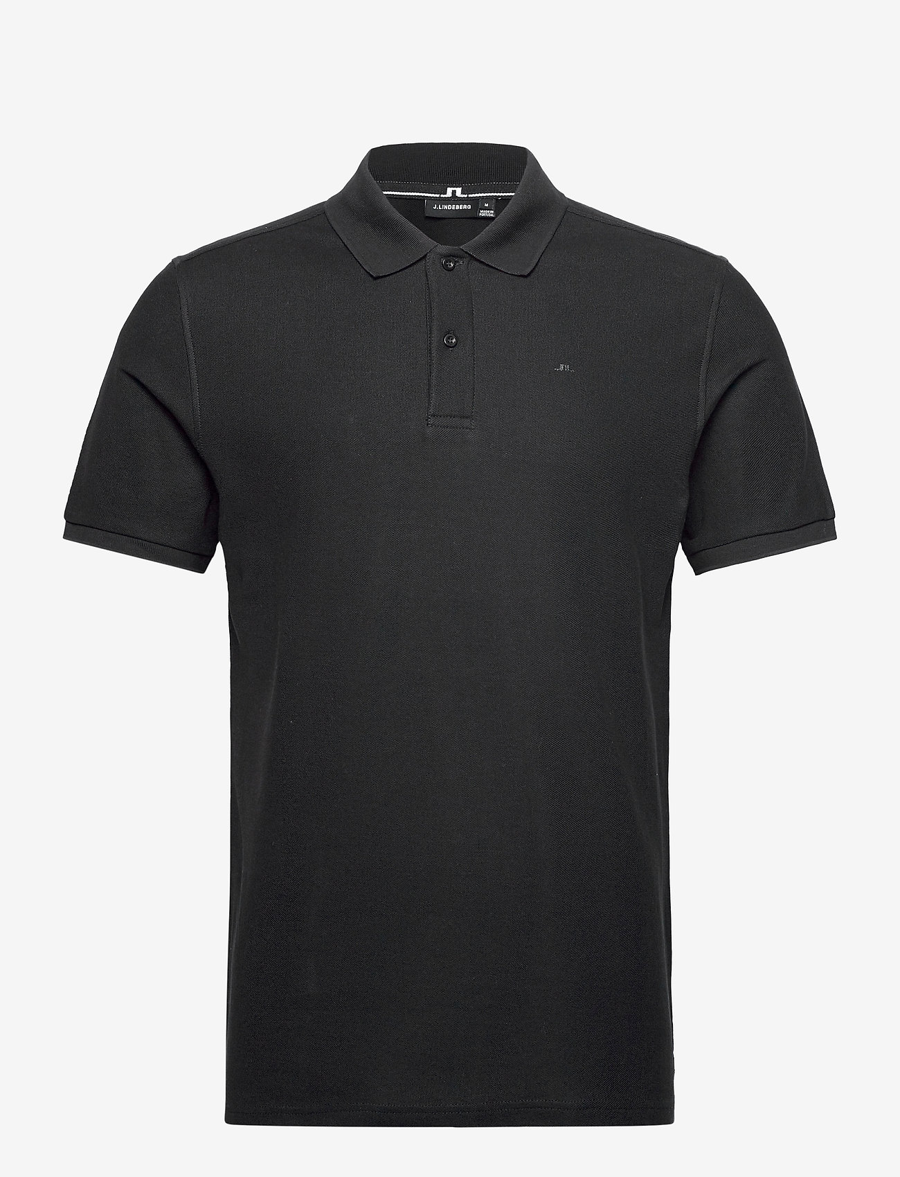 J. Lindeberg - Troy ST Pique Polo Shirt - kurzärmelig - black - 0