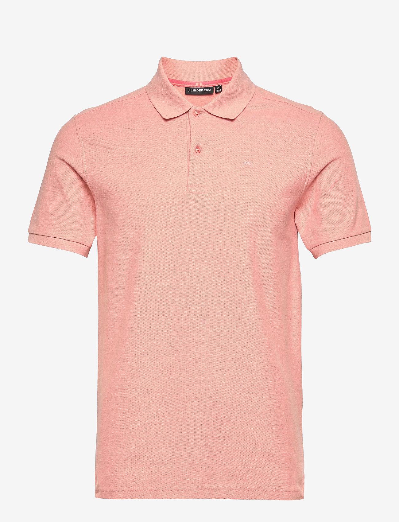 J. Lindeberg - Troy Polo Shirt Seasonal Pique - kurzärmelig - rose melange - 0
