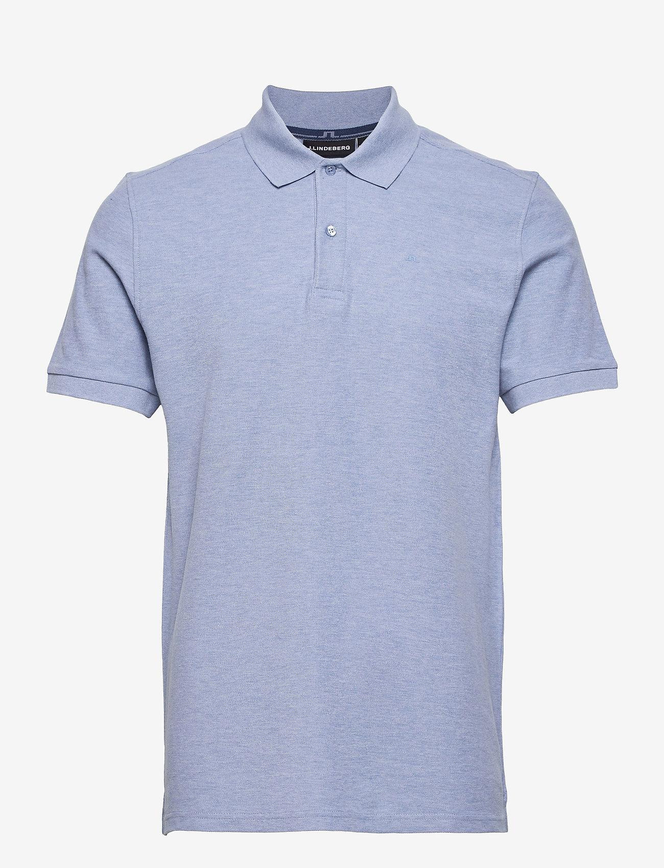 J. Lindeberg - Troy Polo Shirt Seasonal Pique - kurzärmelig - spring blue melange - 1