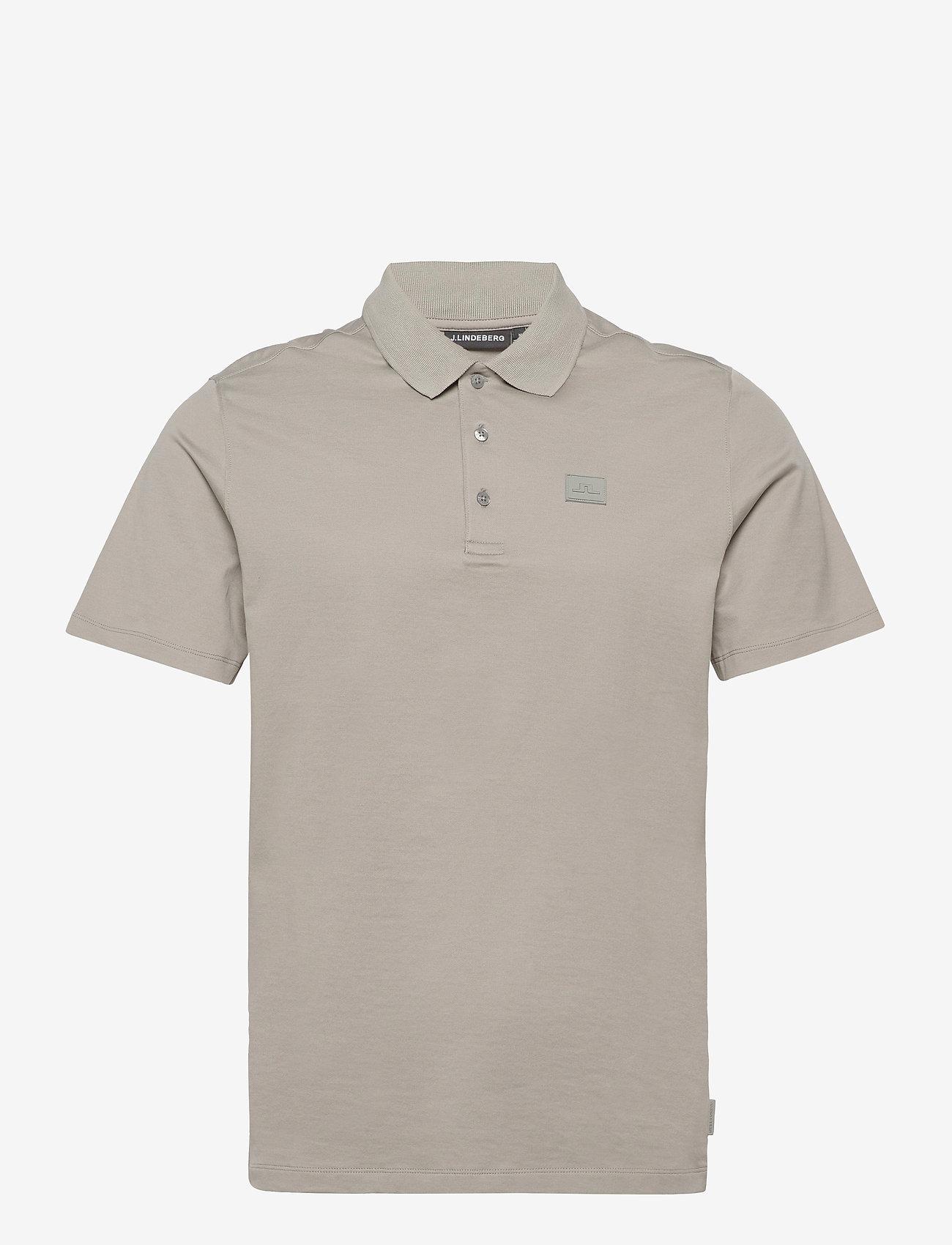 J. Lindeberg - Miles Jersey Polo Shirt - kurzärmelig - mid grey - 1