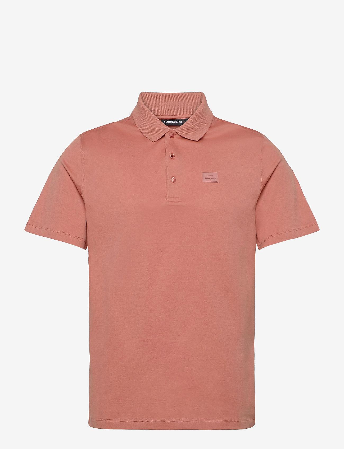 J. Lindeberg - Miles Jersey Polo Shirt - kurzärmelig - rose coppar - 1