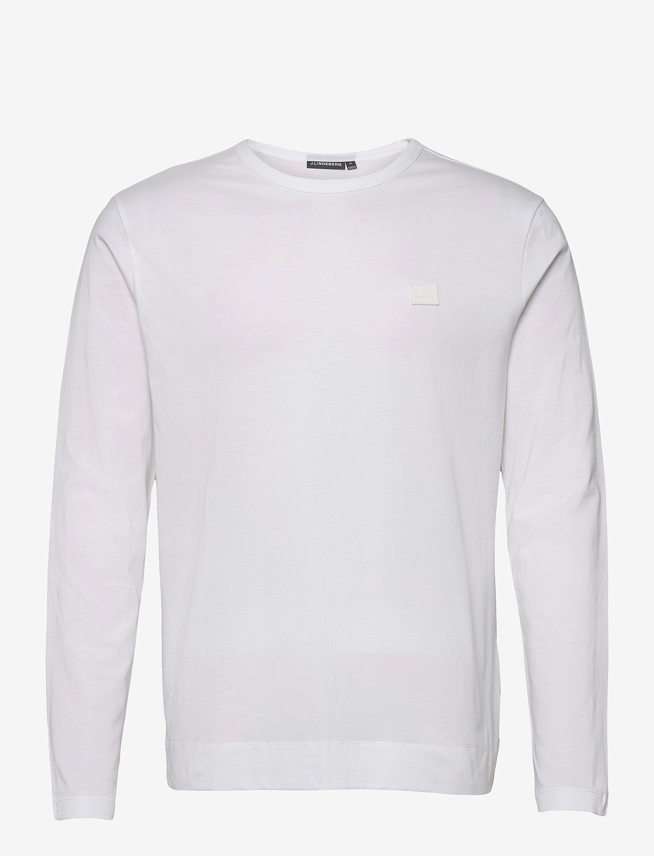 J. Lindeberg - Charlie Long Sleeve T-shirt - basic t-shirts - white - 1
