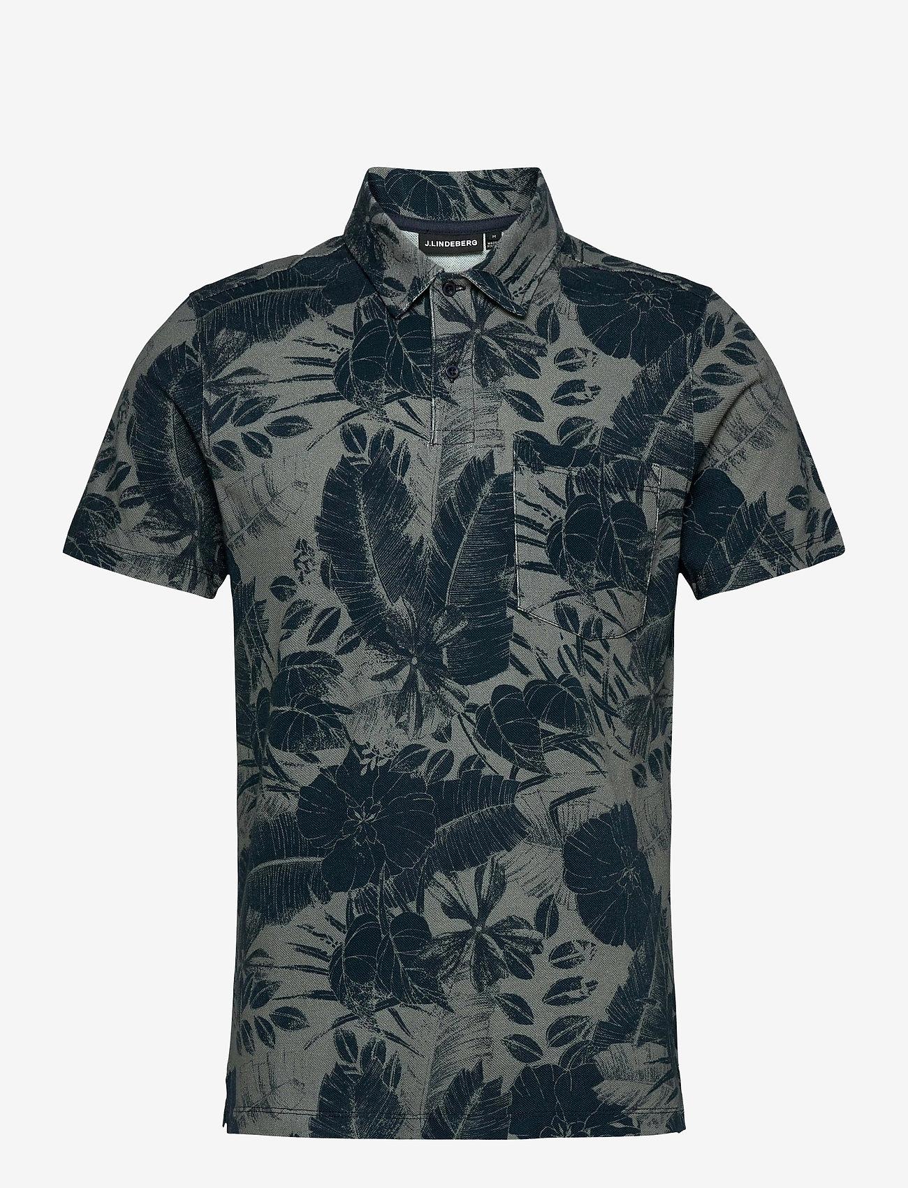 J. Lindeberg - Brand Printed Polo Shirt - kurzärmelig - jl navy - 1