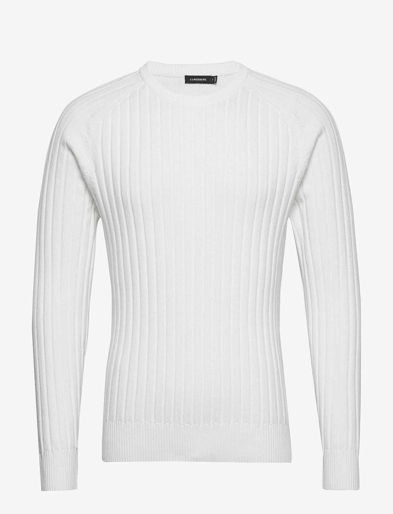 J. Lindeberg - Jace-Contrast knit - basic strik - cloud white - 0