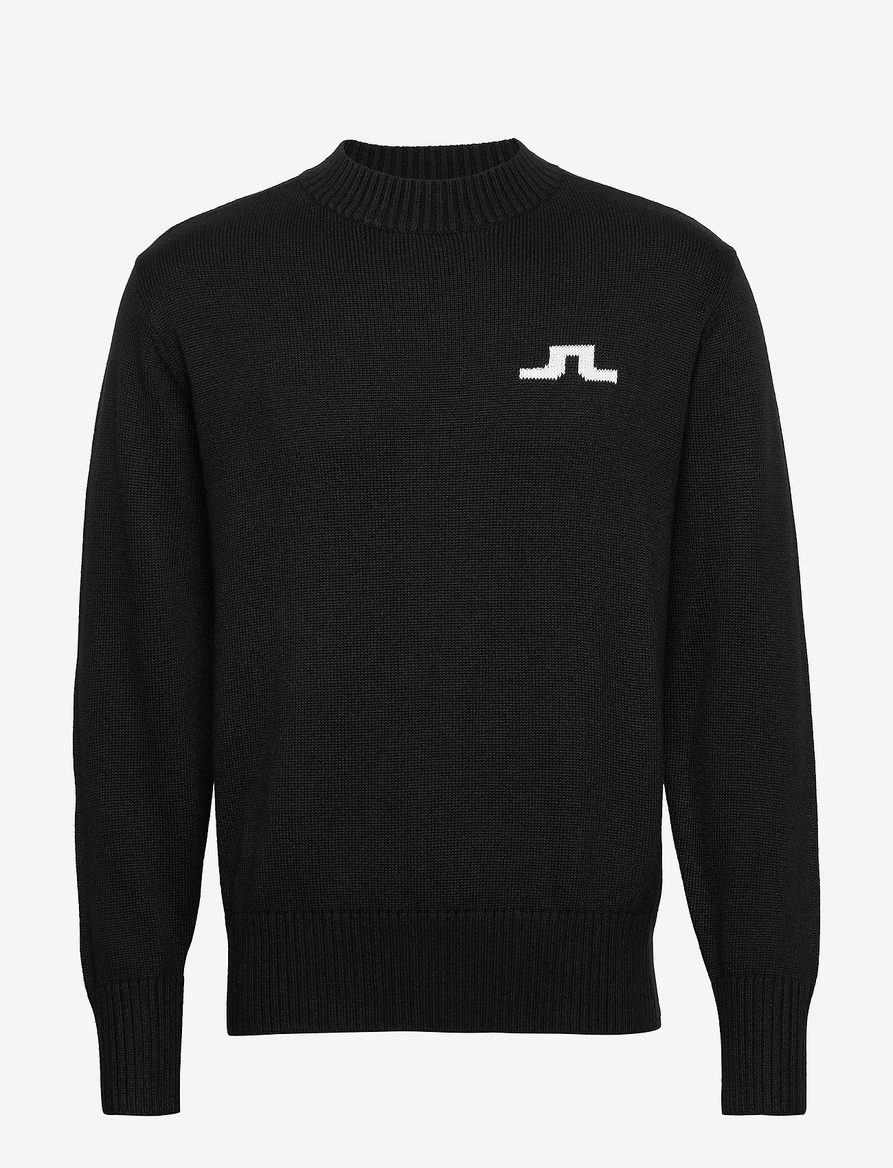 J. Lindeberg - Beckert-Wool Coolmax - basic strik - black - 0