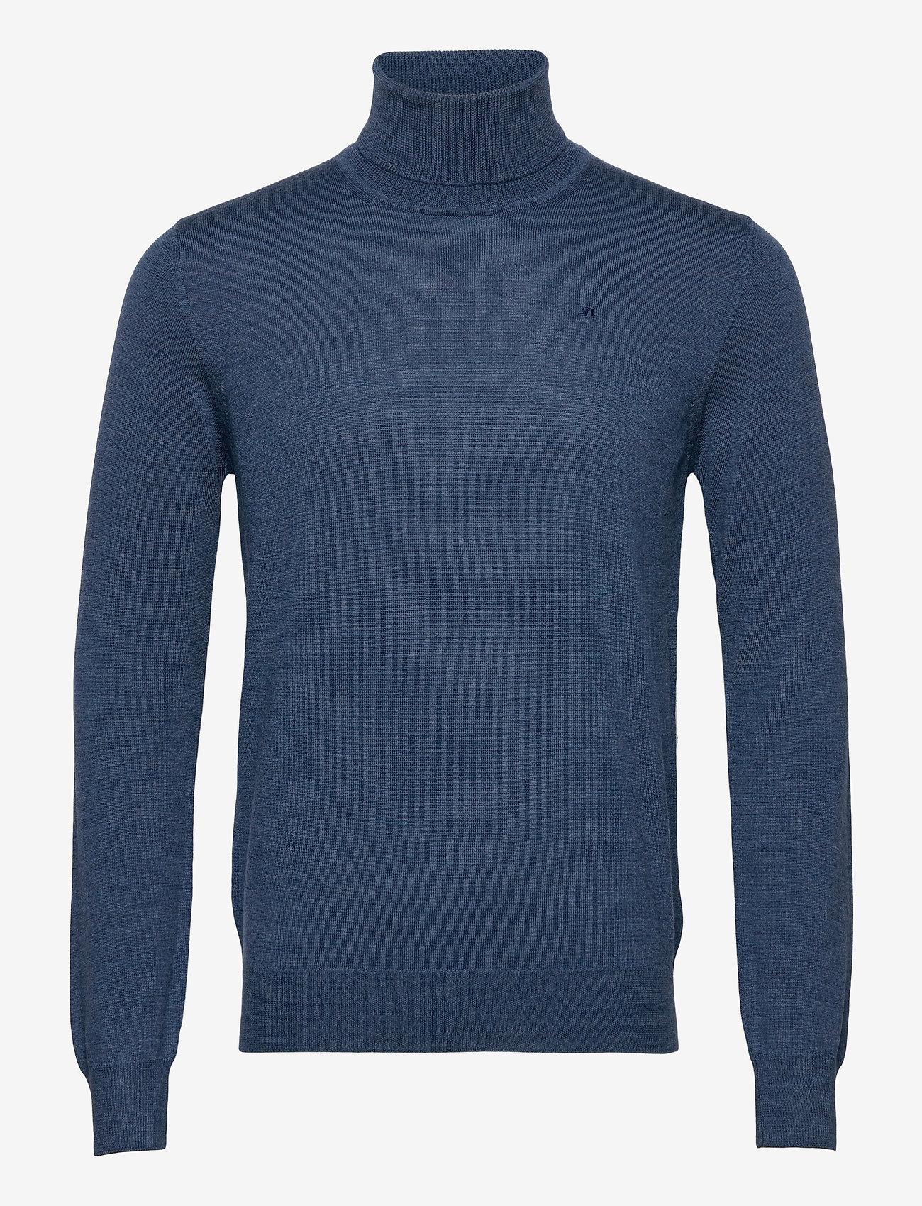 J. Lindeberg - Lyd Merino Turtleneck Sweater - basic-strickmode - egyptian blue melange - 0