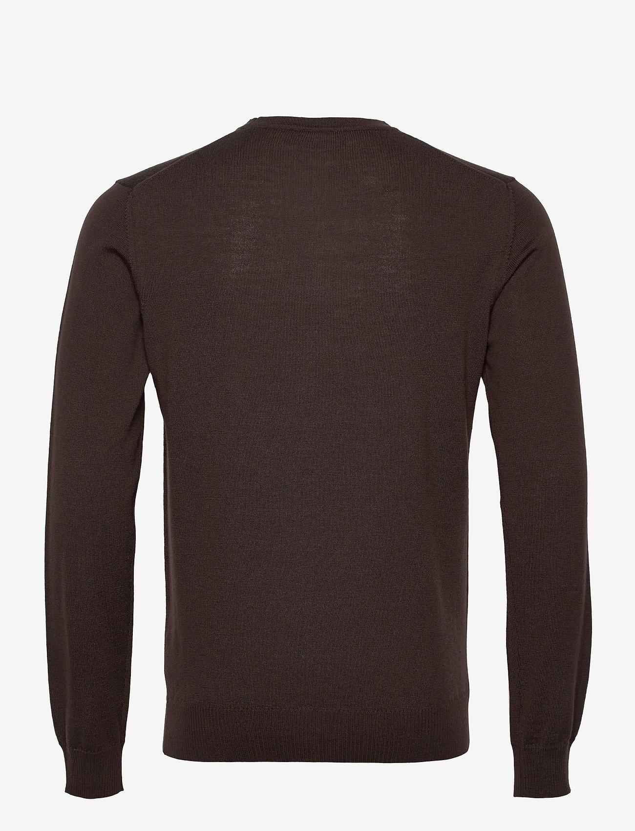 J. Lindeberg - Lyle Merino Crew Neck Sweater - rundhals - dark brown - 1