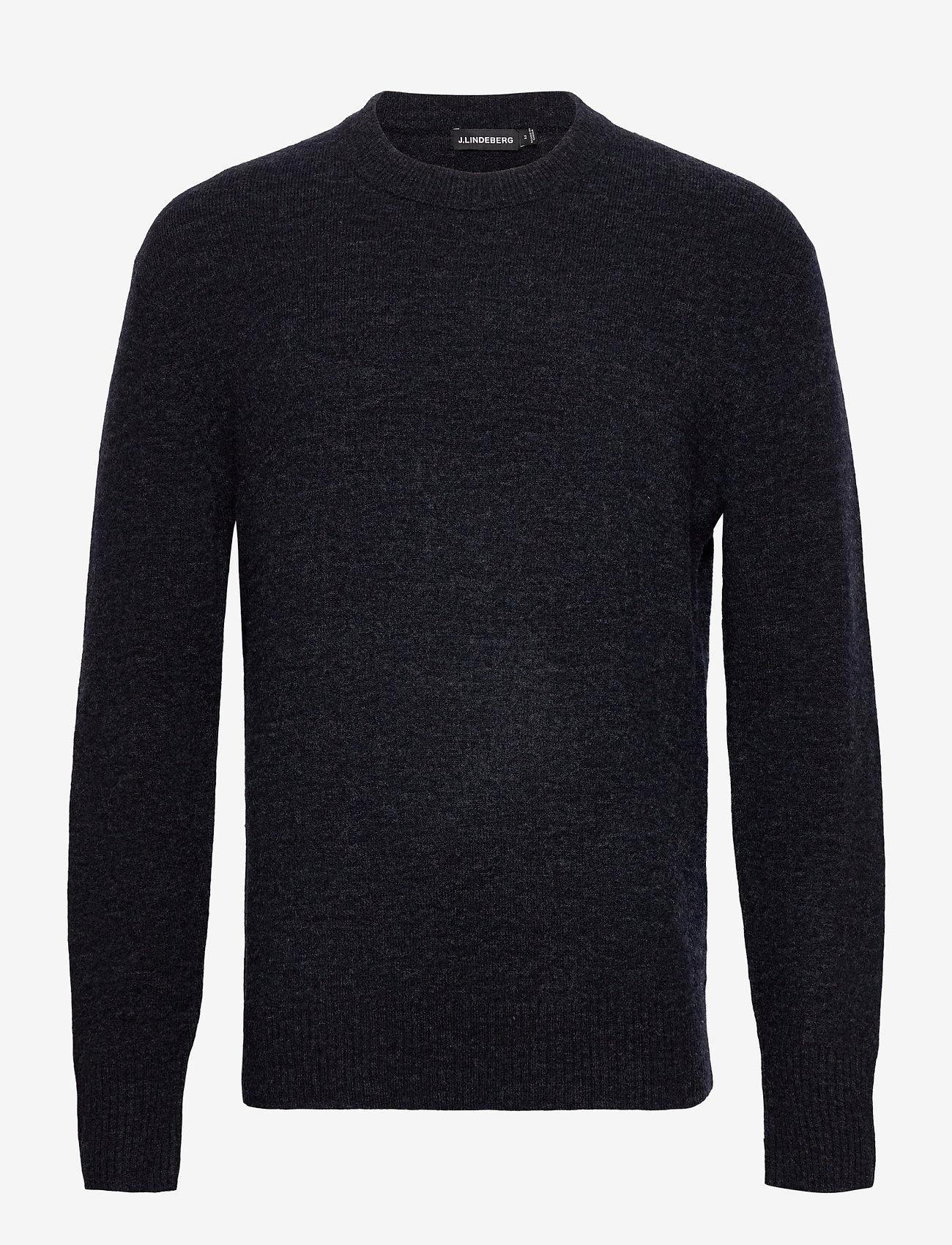 J. Lindeberg - Isaac Crew Neck Sweater - basic-strickmode - navy melange - 0