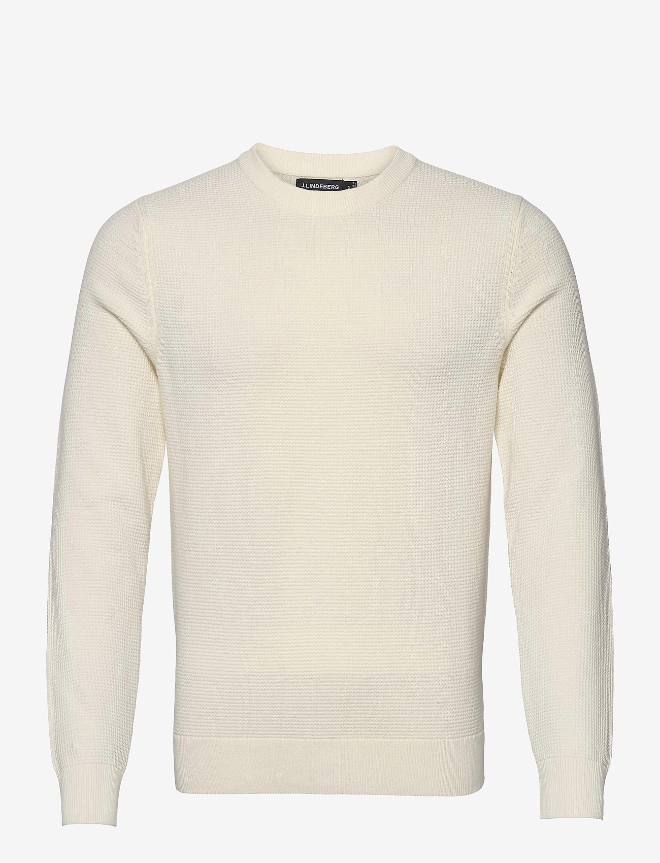 J. Lindeberg - Andy Structure C-Neck Sweater - basic-strickmode - cloud white - 1