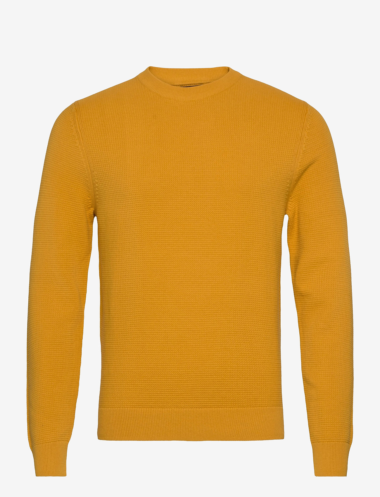 J. Lindeberg - Andy Structure C-Neck Sweater - basic-strickmode - golden orange - 1