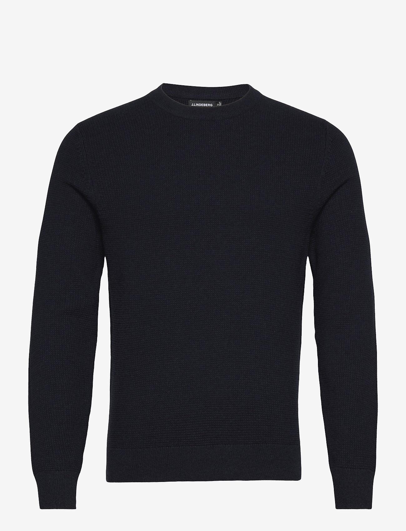 J. Lindeberg - Andy Structure C-Neck Sweater - basic-strickmode - jl navy - 1