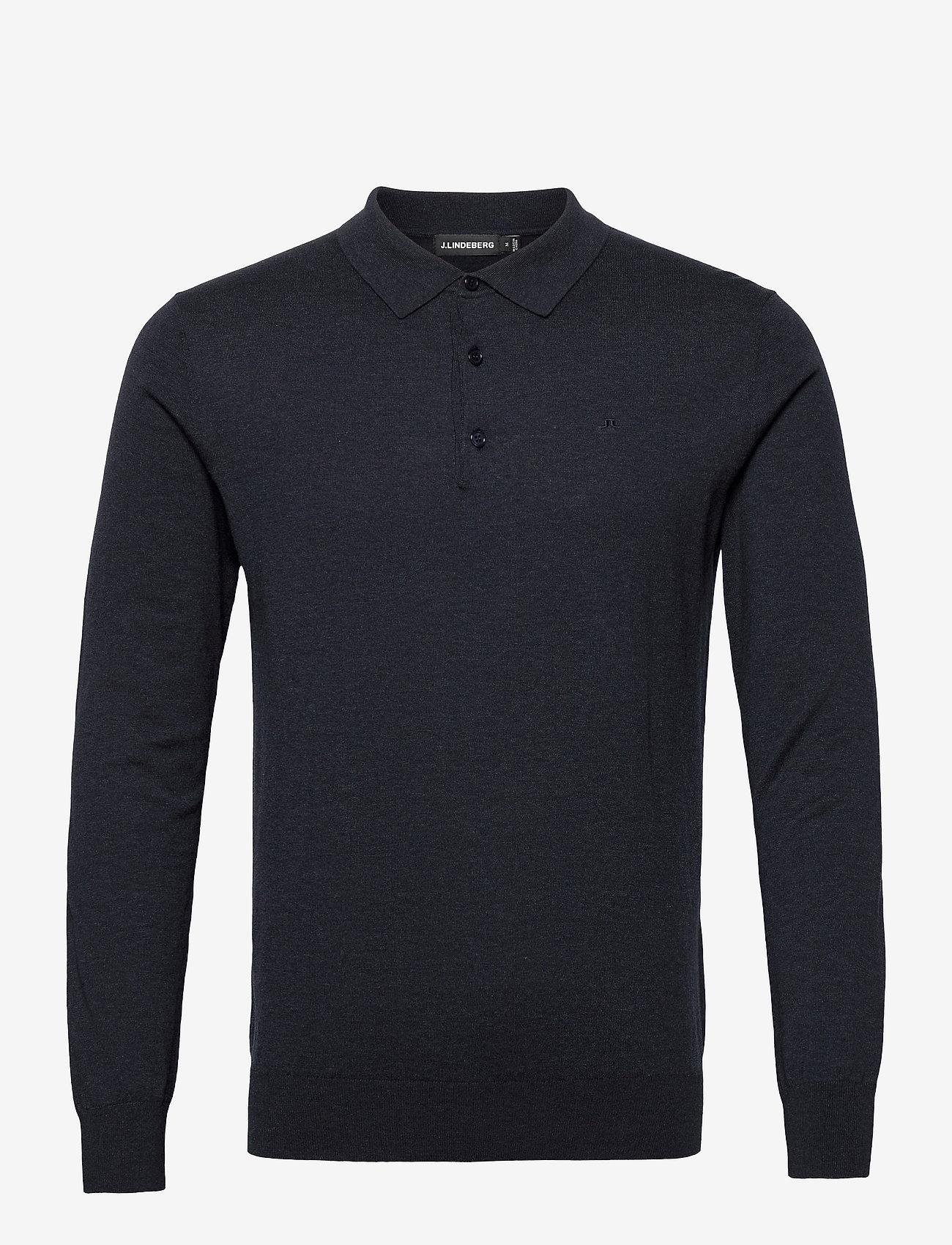 J. Lindeberg - Rowan Cotton Silk LS Polo - langärmelig - jl navy - 1