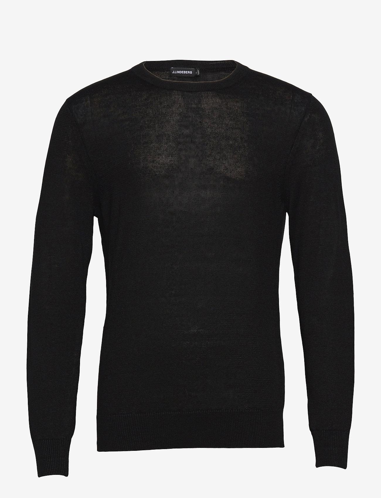 J. Lindeberg - Lyle Linen Sweater - basic-strickmode - black - 0