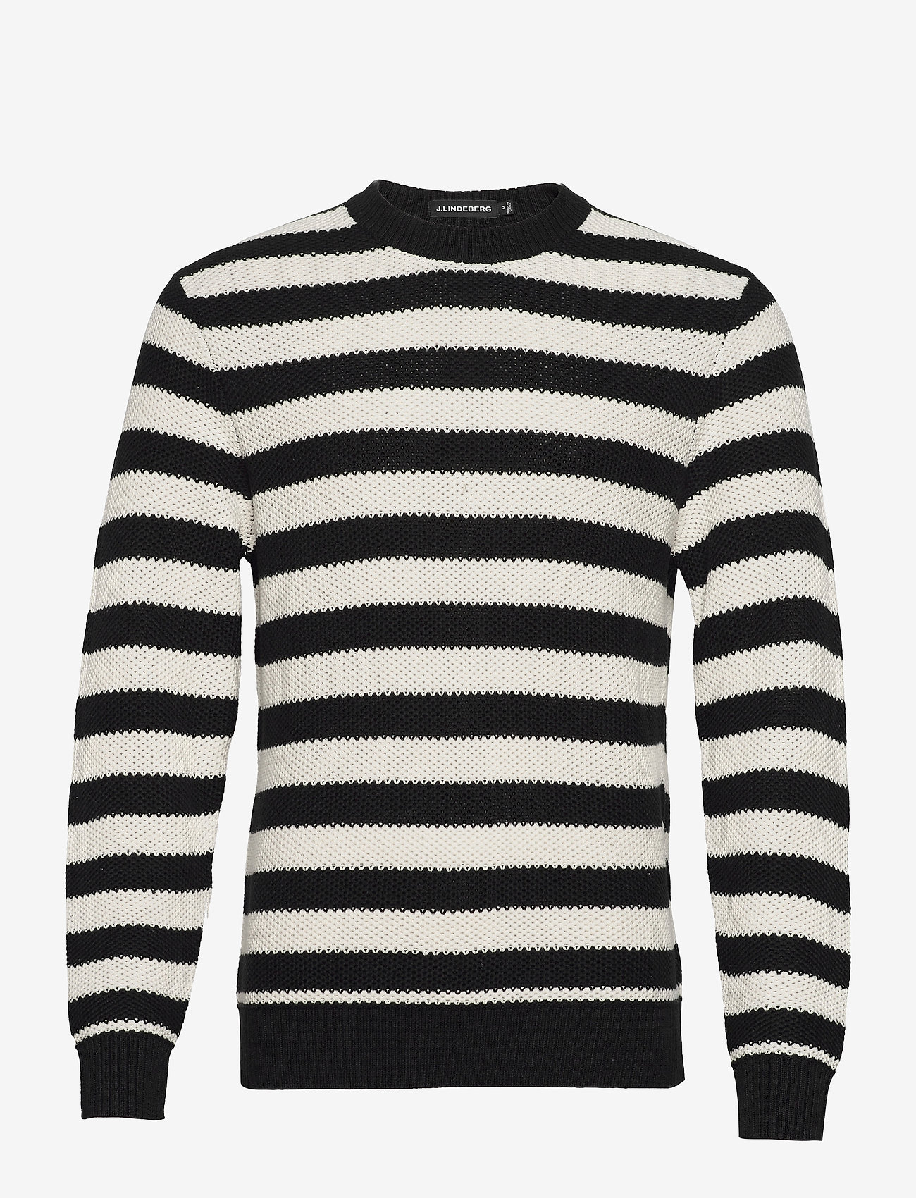 J. Lindeberg - Rico Striped Structure Sweater - rundhals - black - 1