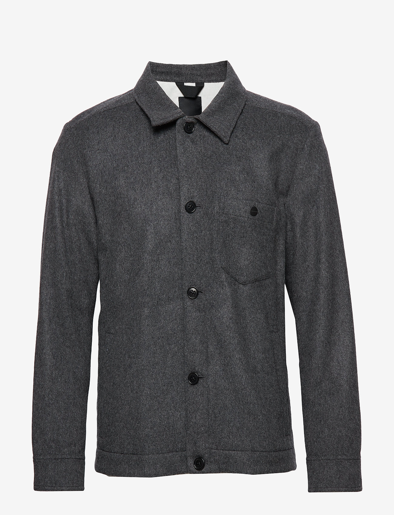 J. Lindeberg - Dolph-Flat Wool - chemises basiques - dark grey melange - 0
