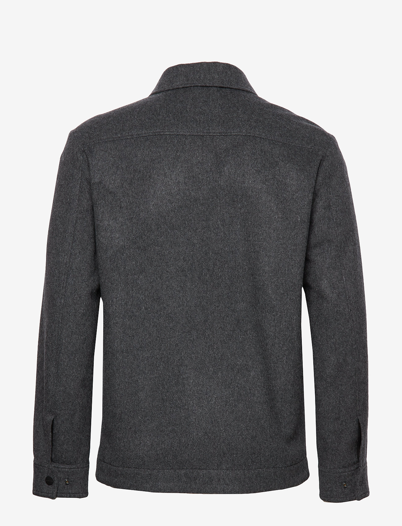 J. Lindeberg - Dolph-Flat Wool - chemises basiques - dark grey melange - 1