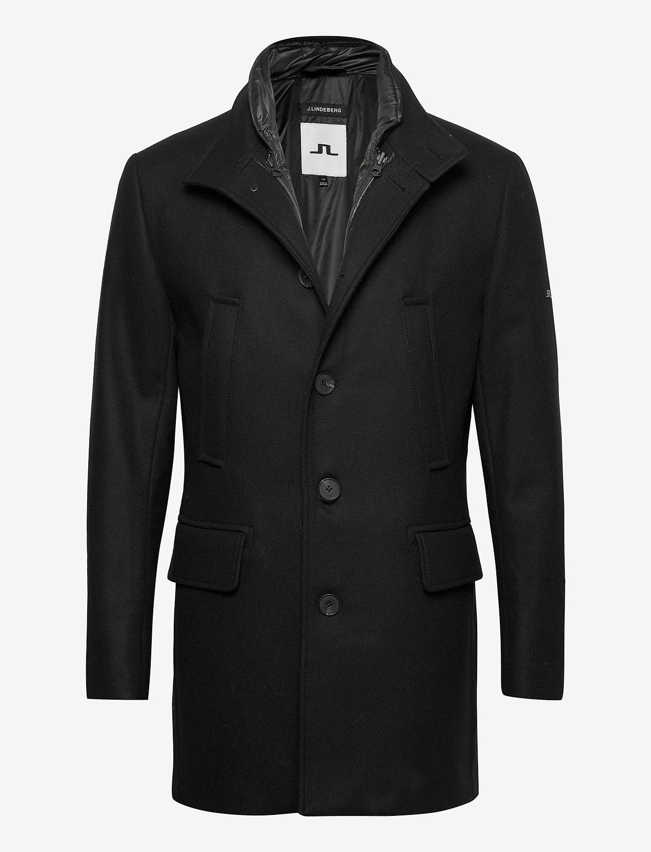 J. Lindeberg - Kali Wool Coat - wollmäntel - black - 0