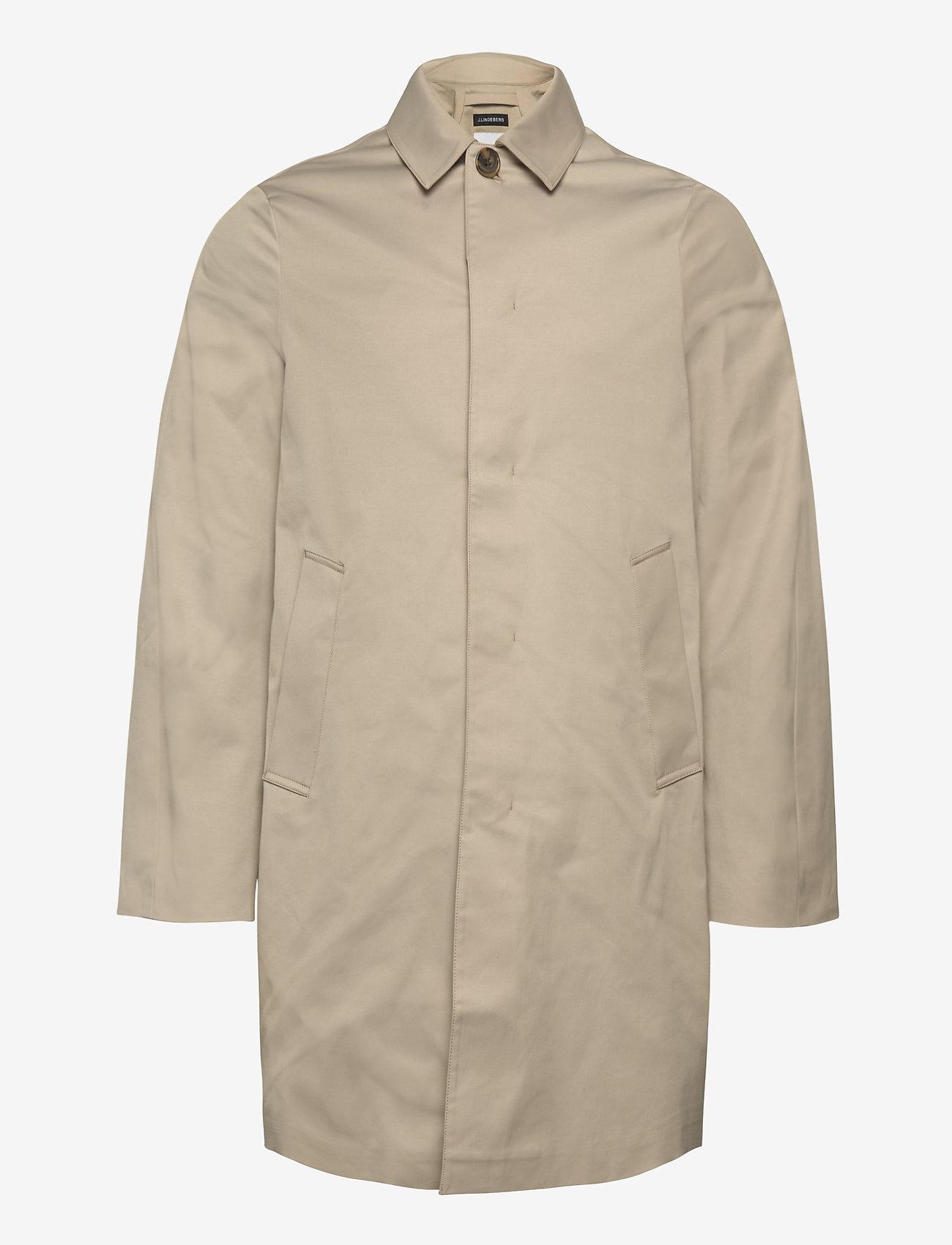 J. Lindeberg - Cane Micro Twill Coat - manteaux legères - sand grey - 1