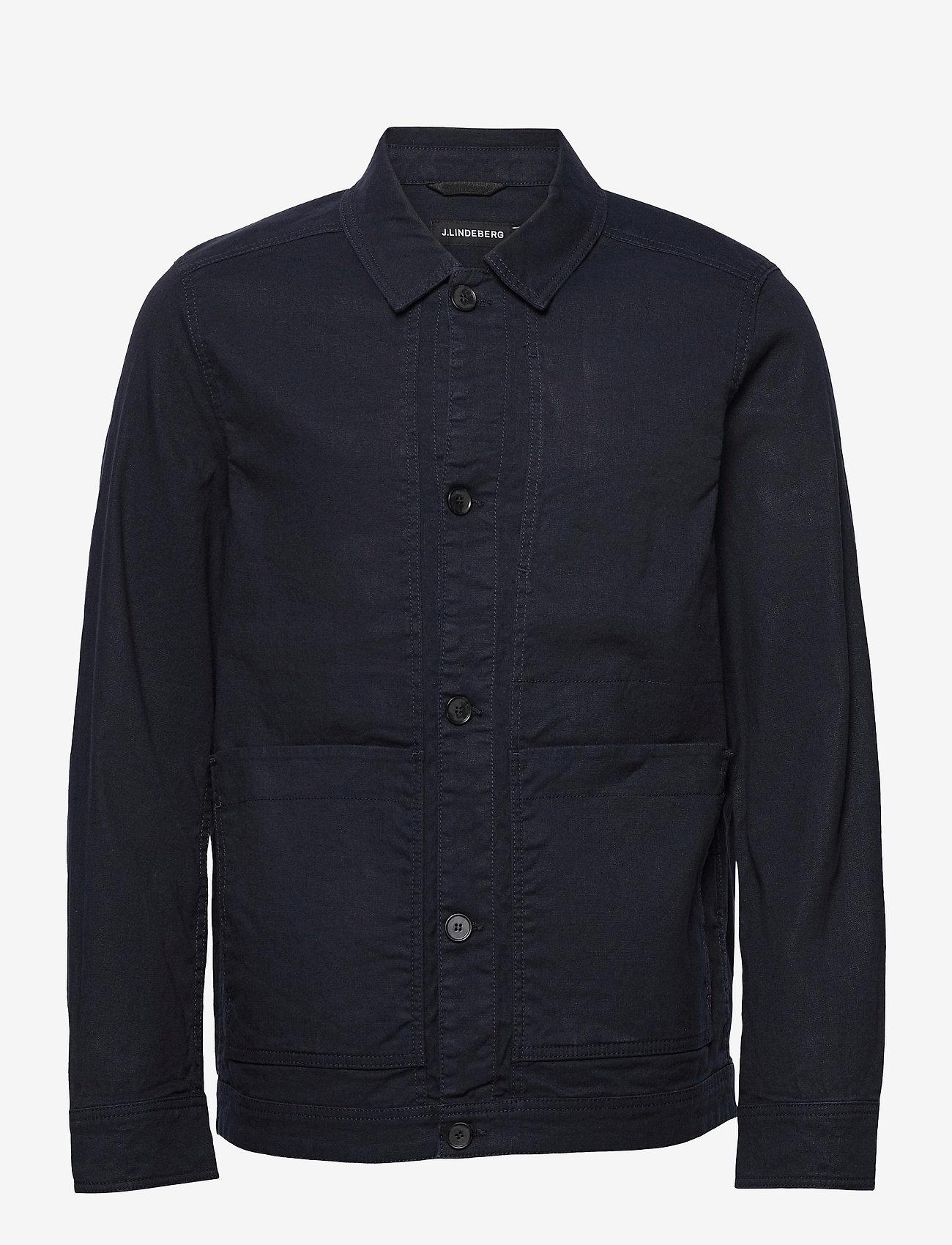 J. Lindeberg - Eric Cotton Linen Jacket - oberteile - jl navy - 1