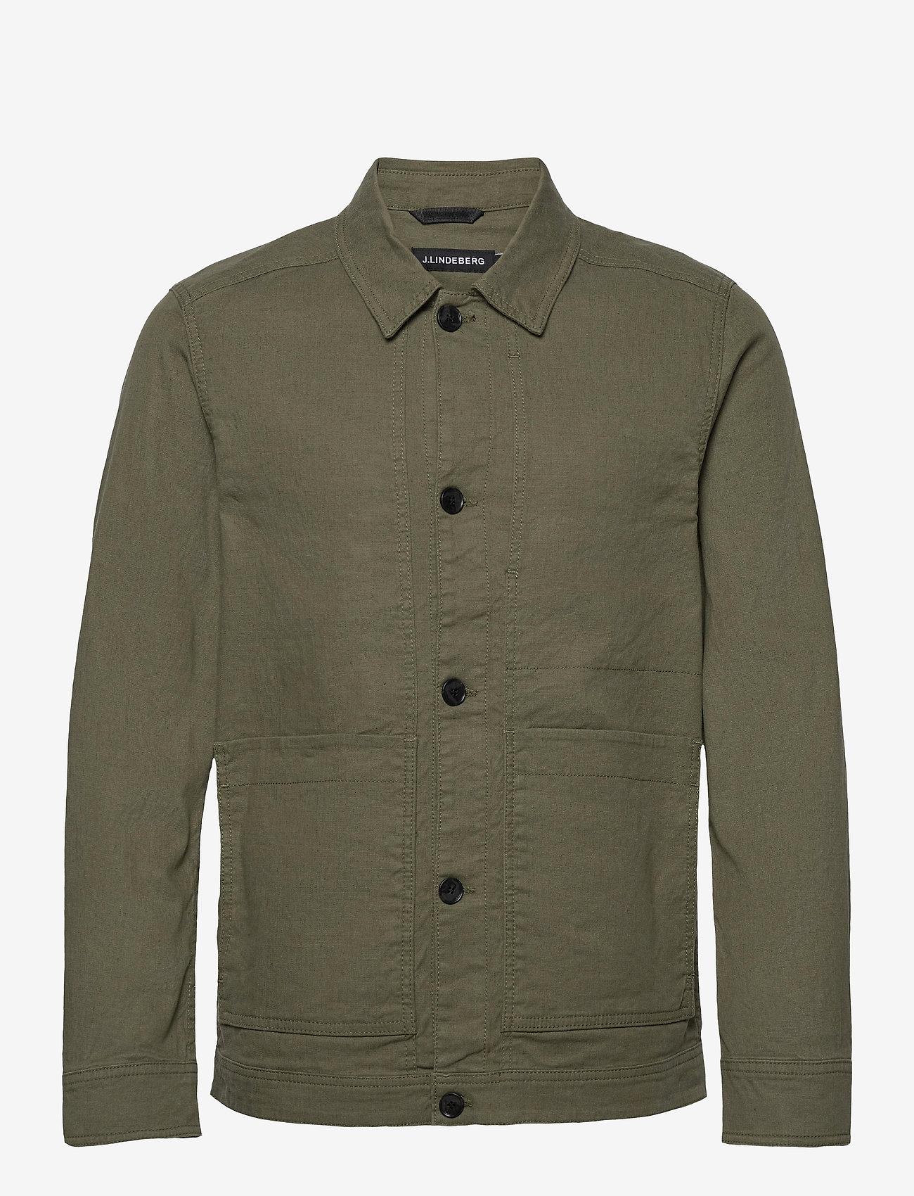 J. Lindeberg - Eric Cotton Linen Jacket - oberteile - lake green - 1