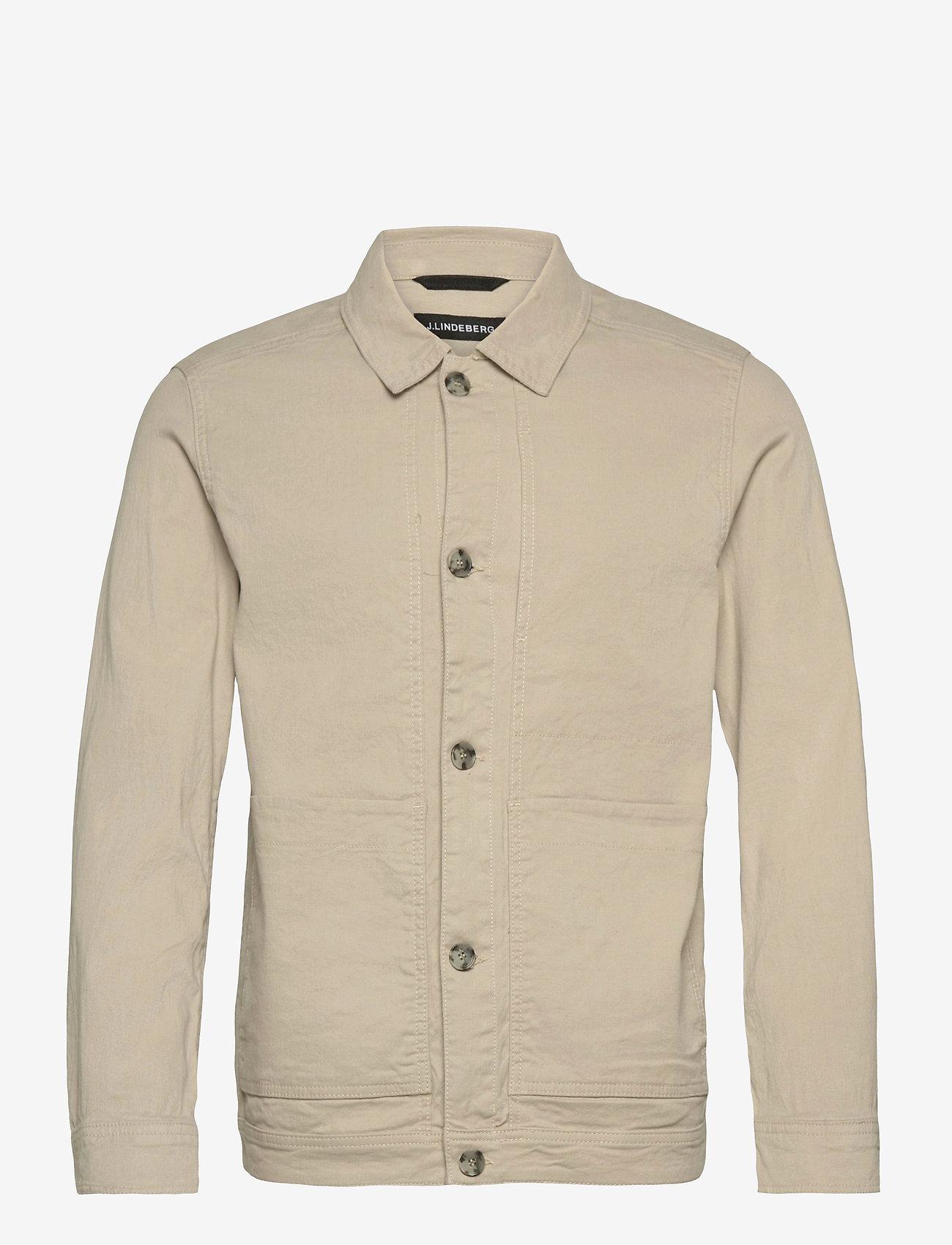 J. Lindeberg - Eric Cotton Linen Jacket - oberteile - sand grey - 1