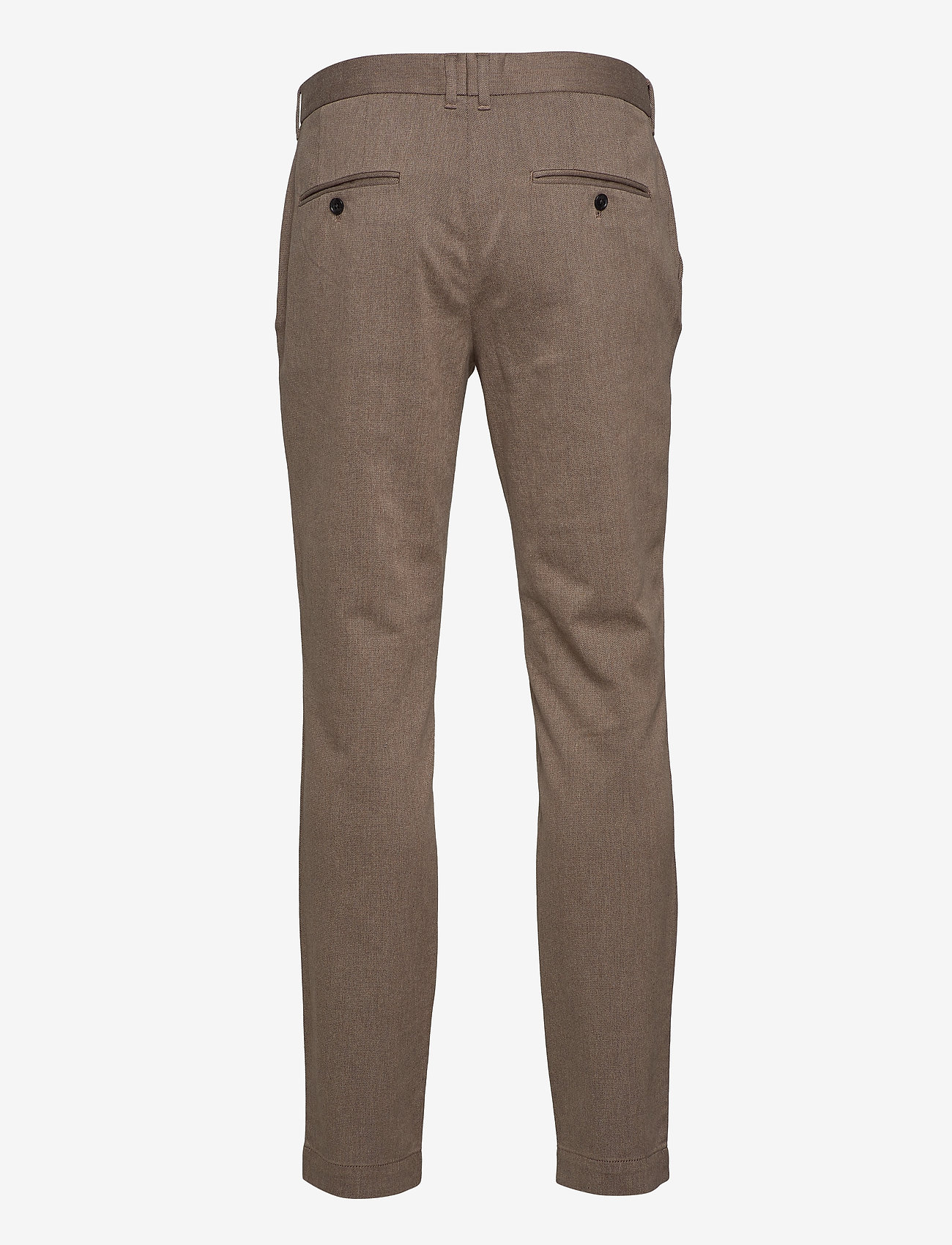 J. Lindeberg - Chaze Flannel Twill Pants - anzugshosen - wood brown - 1