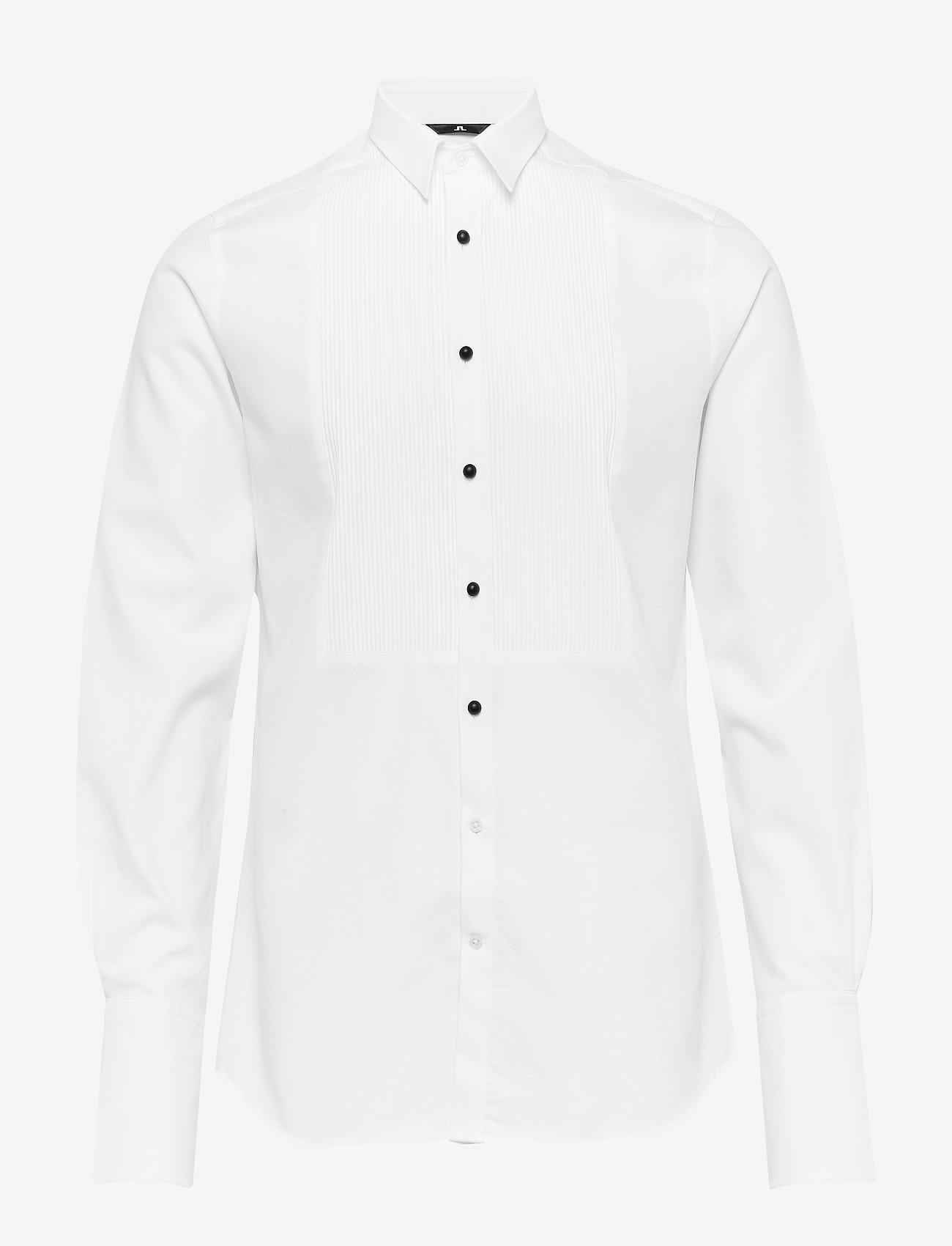 J. Lindeberg - Daniel Tux-Refined Pique - chemises basiques - white - 0