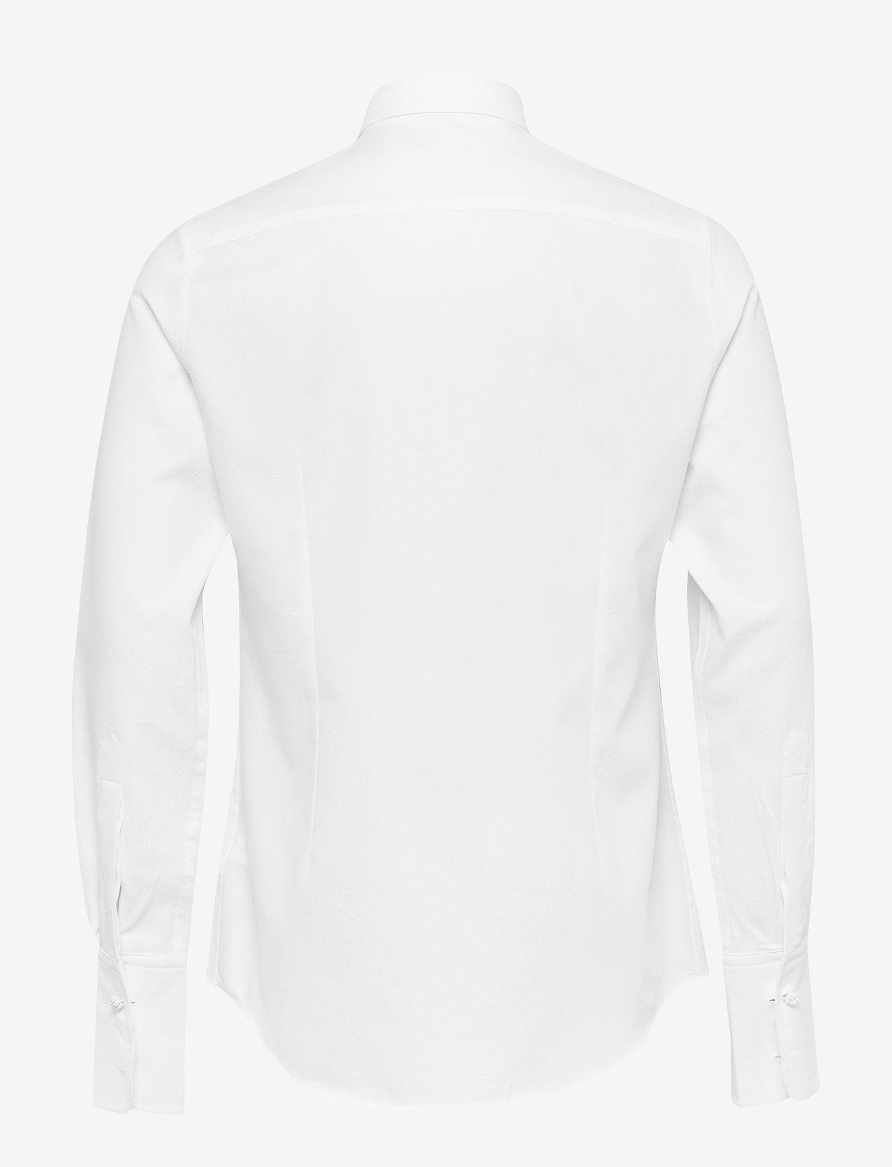 J. Lindeberg - Daniel Tux-Refined Pique - chemises basiques - white - 1