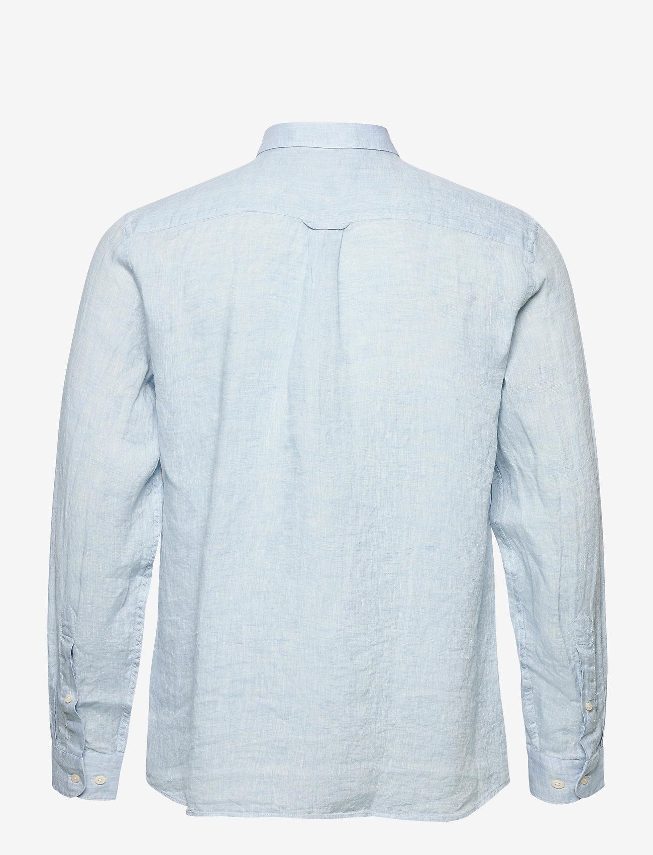 J. Lindeberg - Daniel BD-Linen Melange - basic-hemden - dusk blue - 1