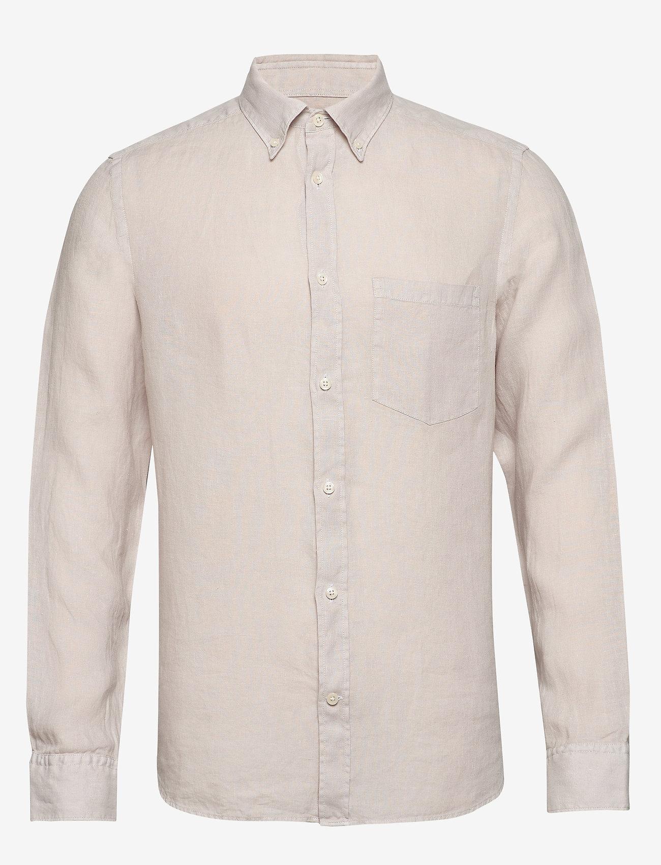 J. Lindeberg - Fredrik BD-Clean Linen - chemises basiques - cloud grey - 0