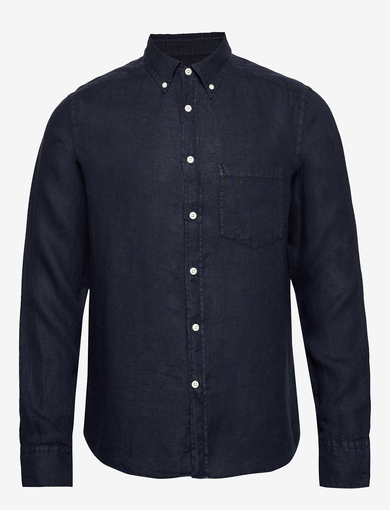 J. Lindeberg - Fredrik BD-Clean Linen - basic-hemden - jl navy - 0