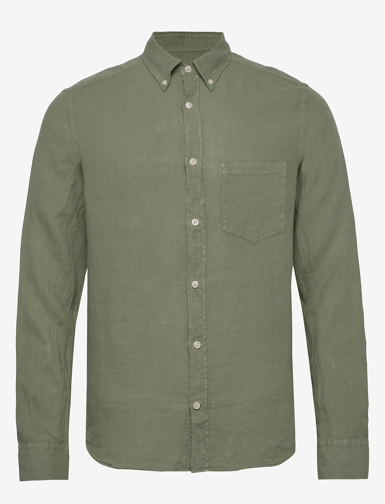 J. Lindeberg - Fredrik BD-Clean Linen - basic-hemden - sage green - 0