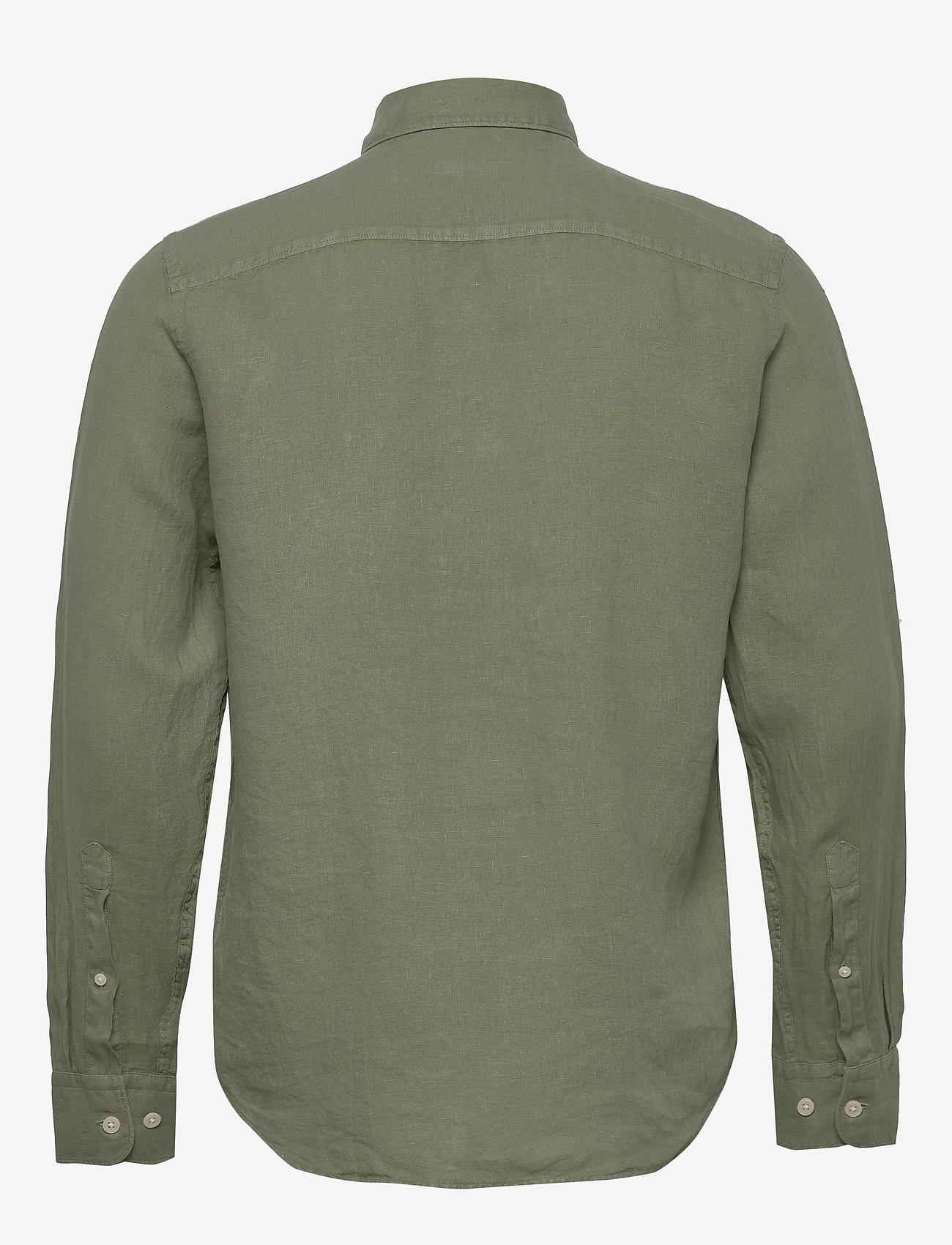 J. Lindeberg - Fredrik BD-Clean Linen - basic-hemden - sage green - 1