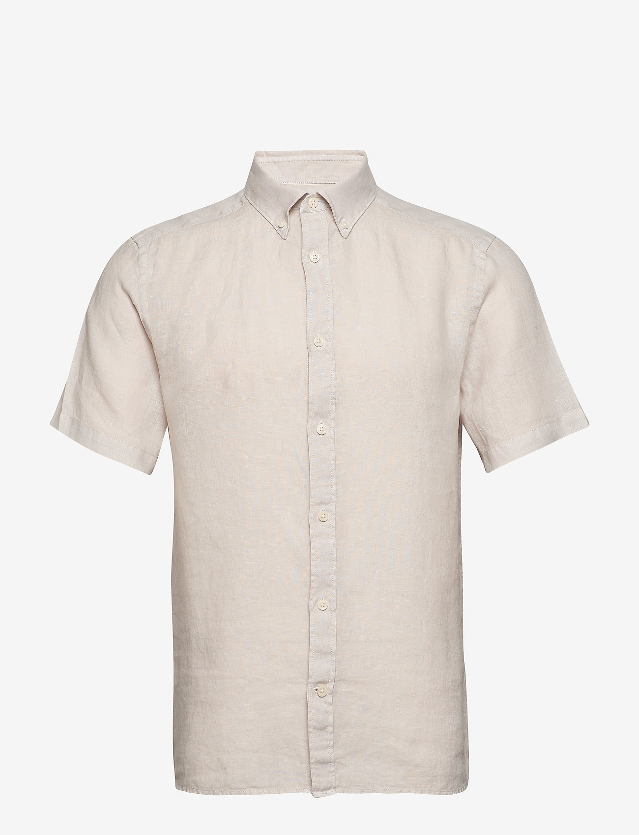 J. Lindeberg - Fredrik BD SS-Clean Linen - chemises basiques - cloud grey - 0