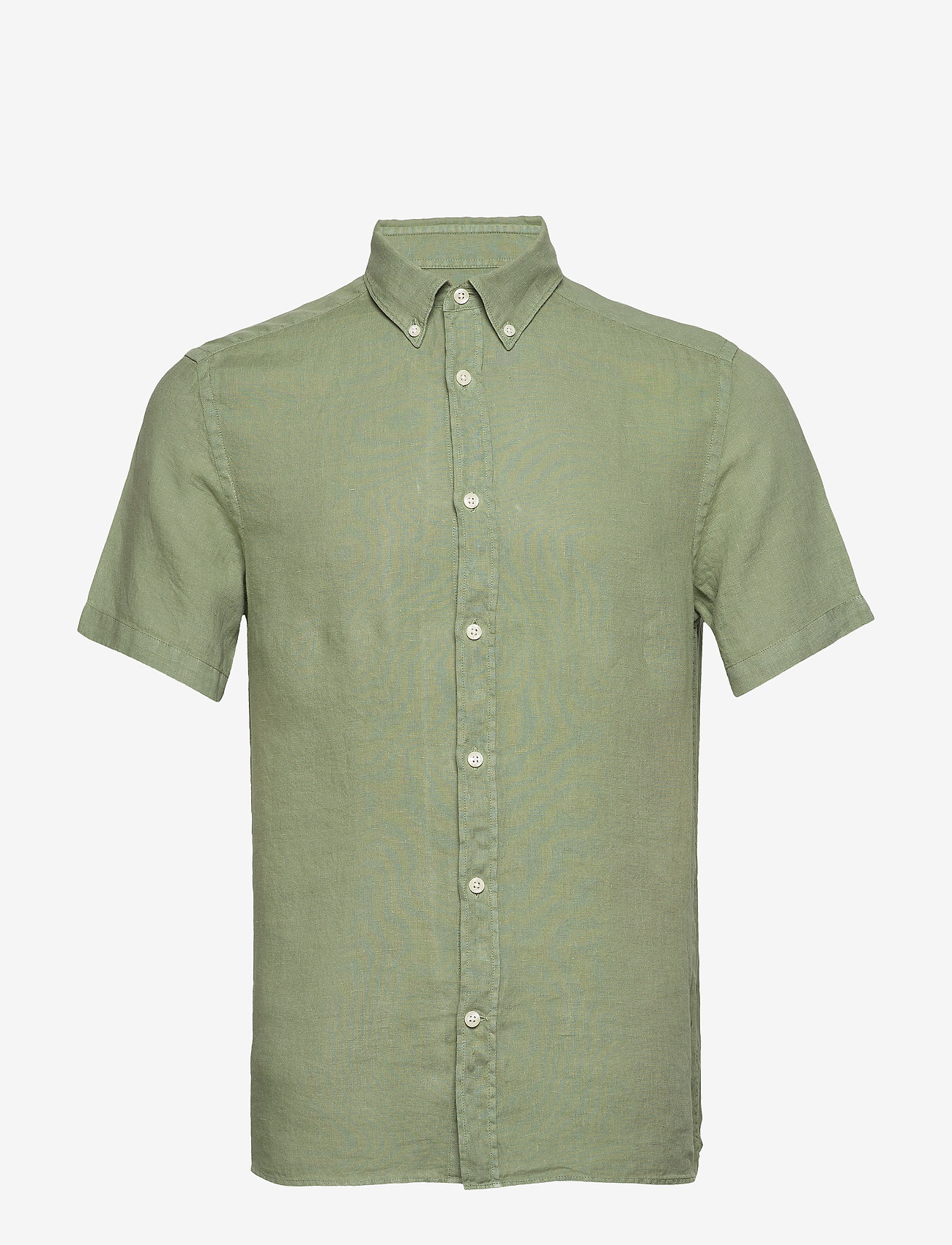 J. Lindeberg - Fredrik BD SS-Clean Linen - chemises basiques - sage green - 0