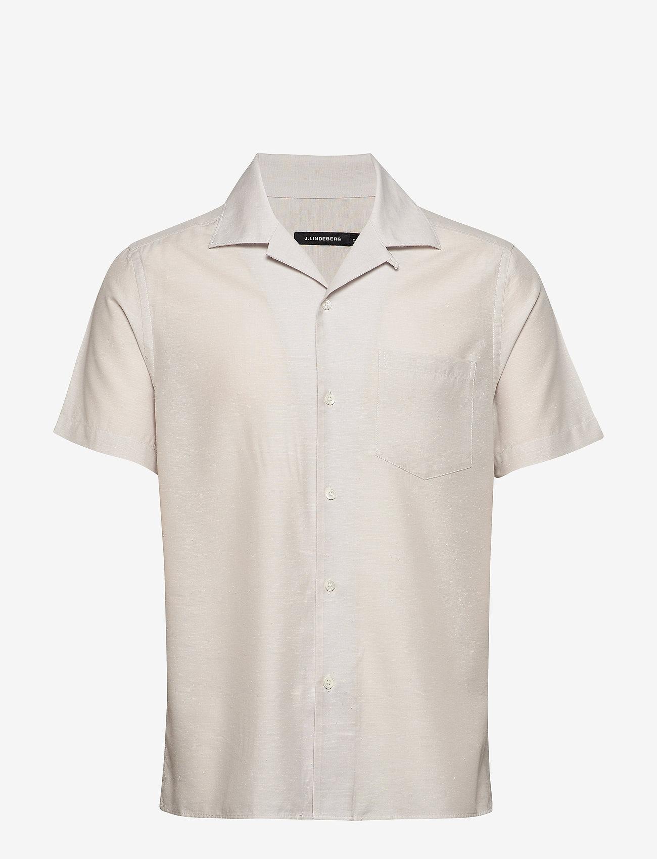 J. Lindeberg - Daniel Resort SS-Silk Speckle - chemises basiques - cloud grey - 0