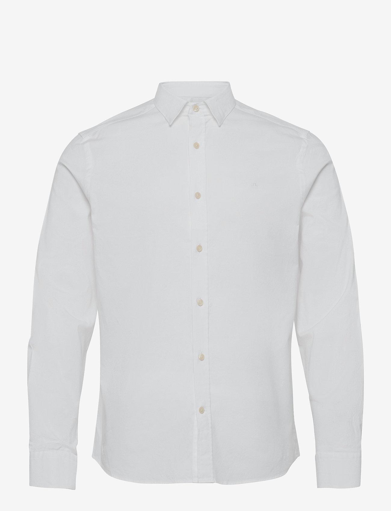 J. Lindeberg - Stretch Oxford Slim Shirt - basic-hemden - white - 1