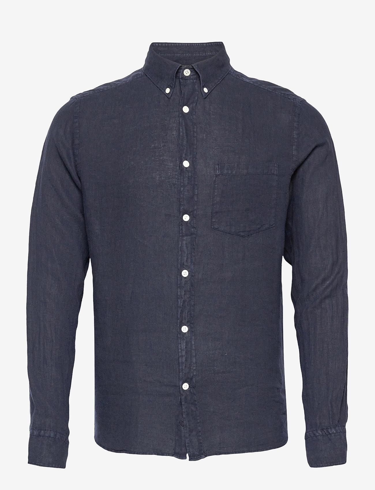 J. Lindeberg - Clean Linen Slim Shirt - basic-hemden - jl navy - 1