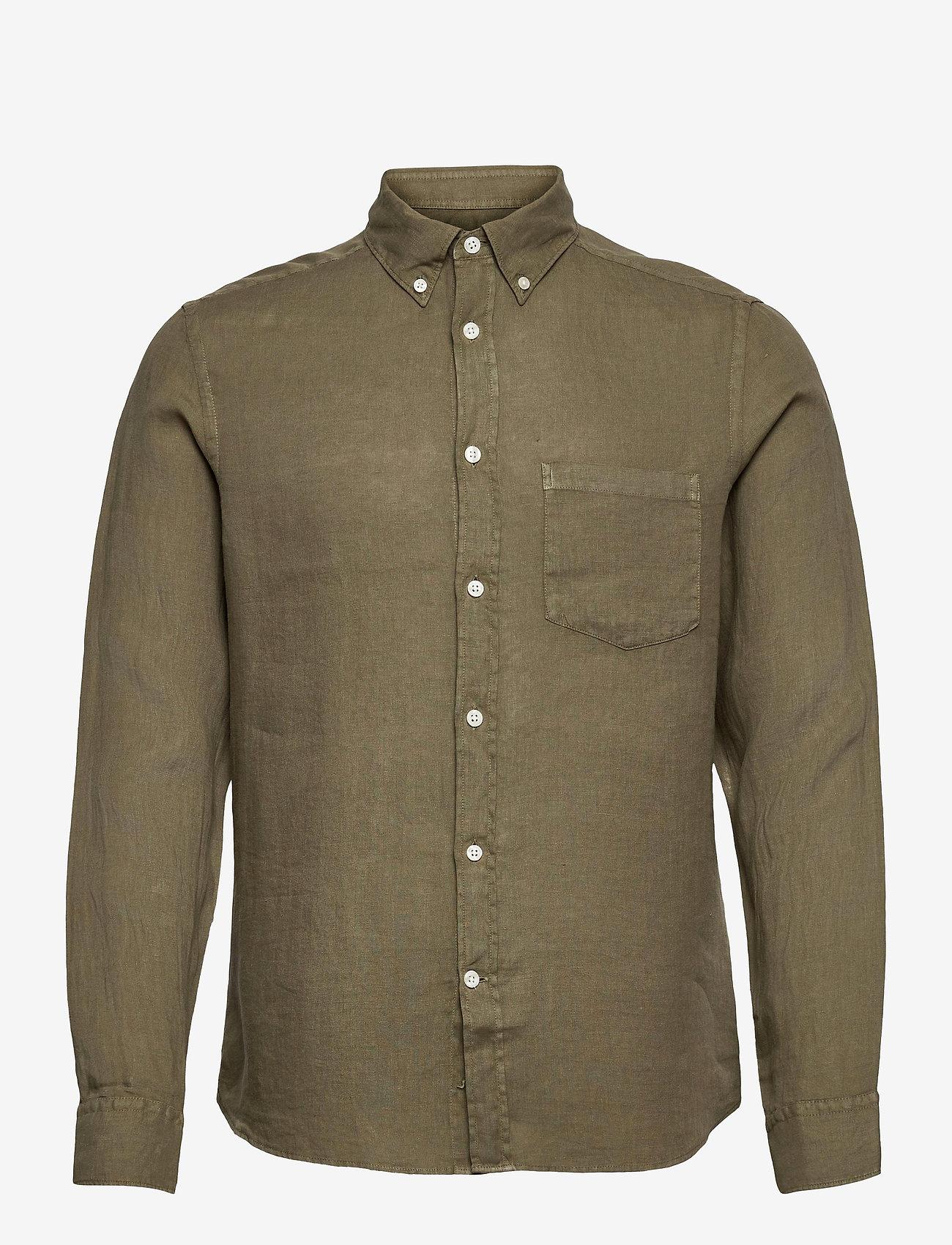 J. Lindeberg - Clean Linen Slim Shirt - basic-hemden - lake green - 1