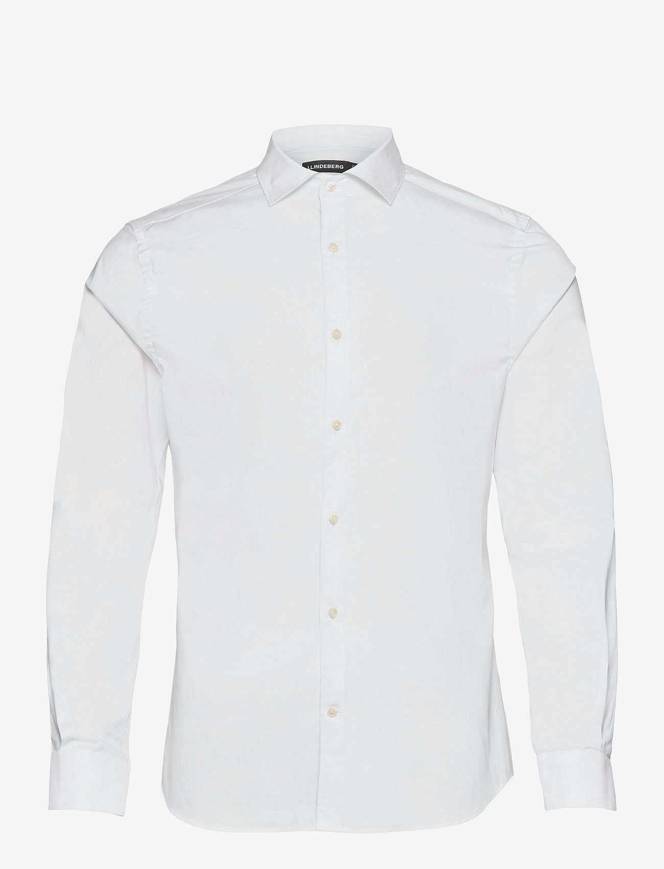 J. Lindeberg - Non-iron Twill Superslim Shirt - basic-hemden - white - 0