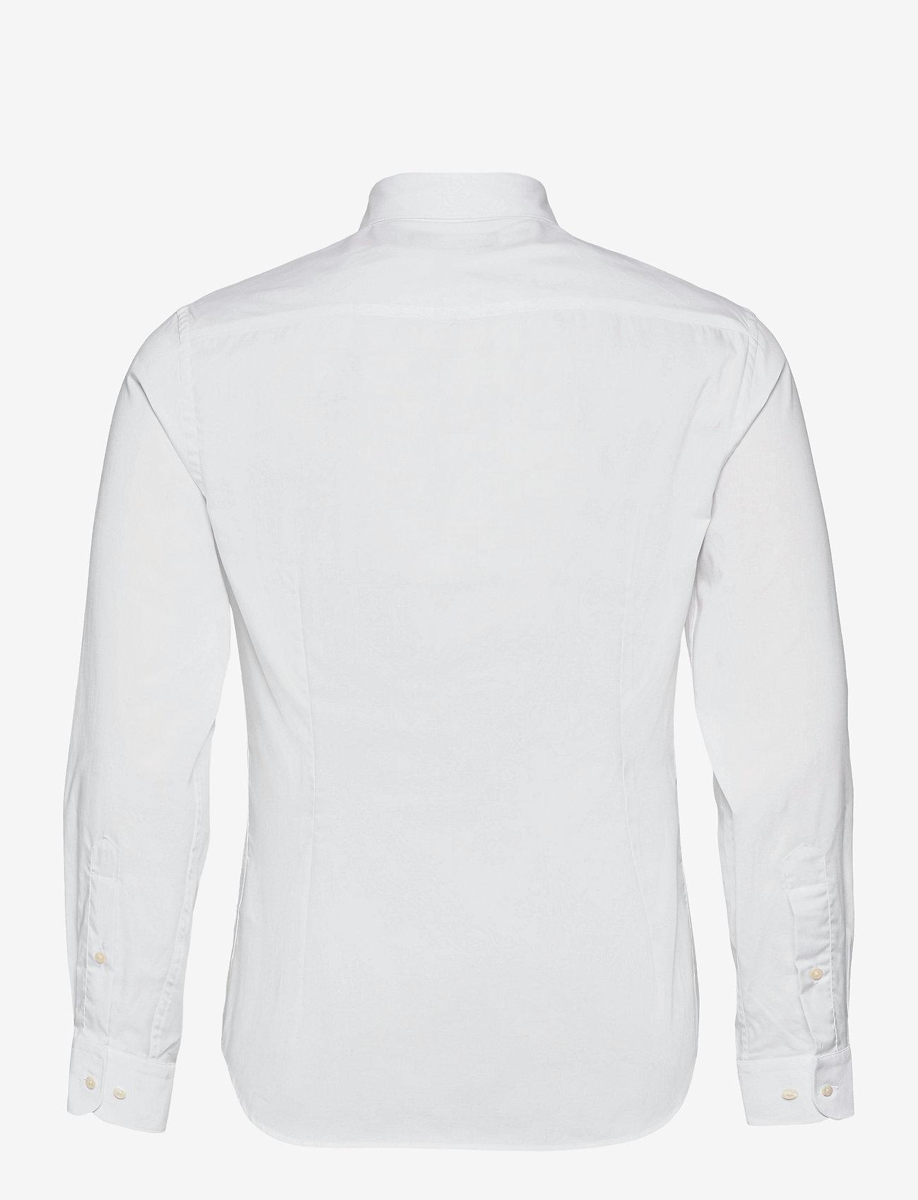 J. Lindeberg - Non-iron Twill Superslim Shirt - basic-hemden - white - 1