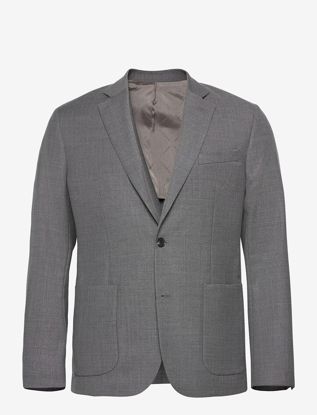 J. Lindeberg - Hopper PP UNC-Hopsack Wool - single breasted blazers - stone grey - 0