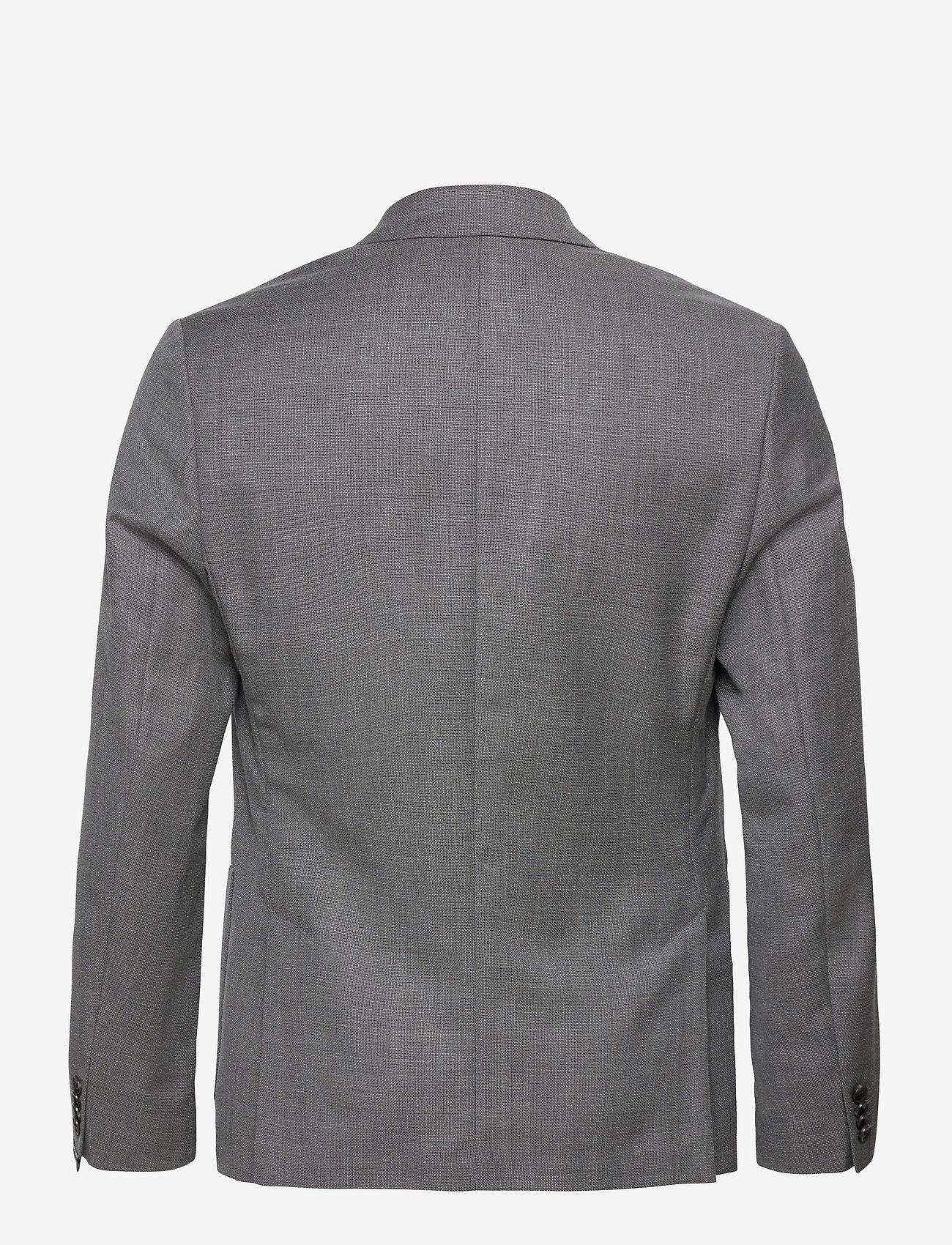 J. Lindeberg - Hopper PP UNC-Hopsack Wool - single breasted blazers - stone grey - 1