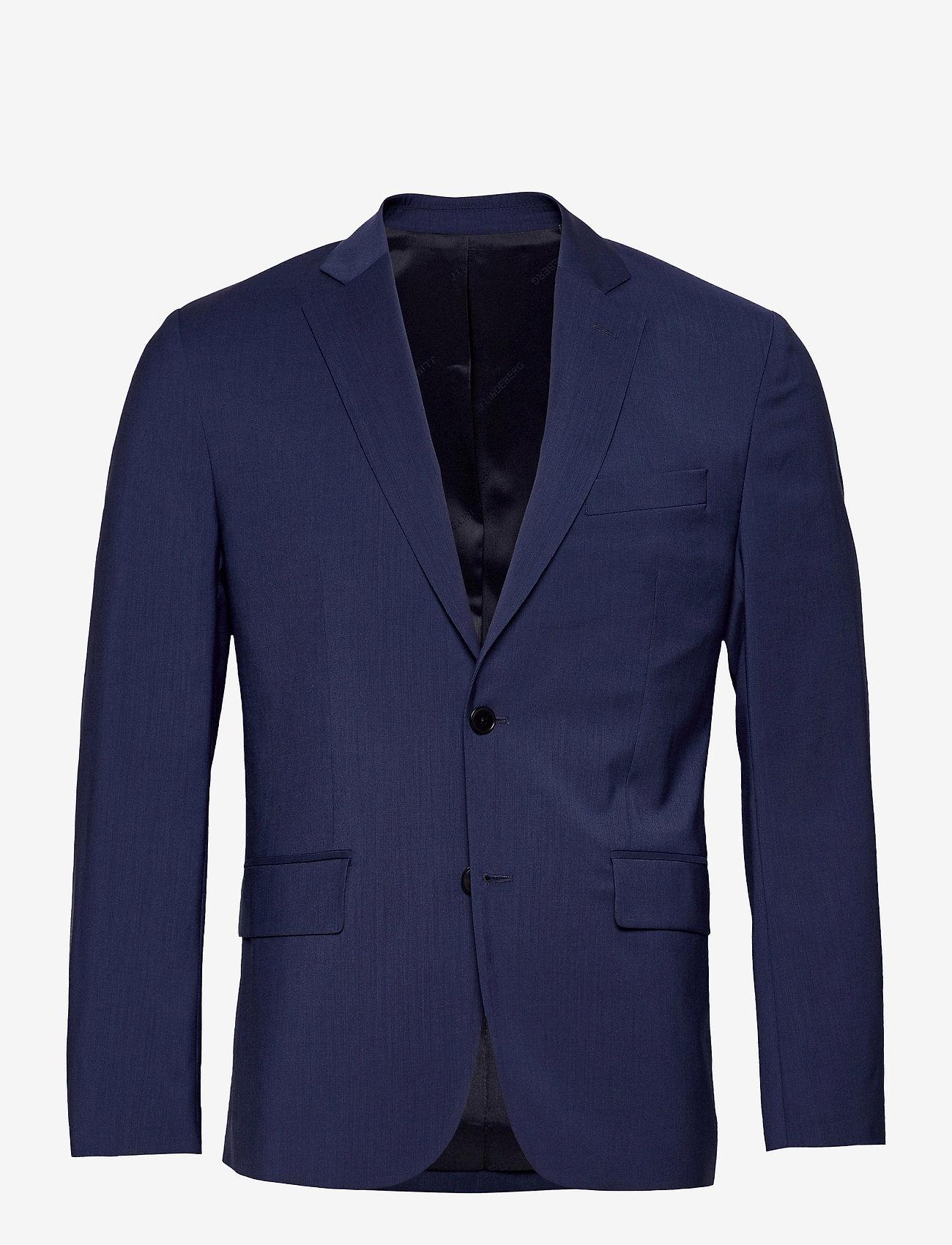 J. Lindeberg - Hopper U Comfort Wool Blazer - single breasted blazers - midnight blue - 1