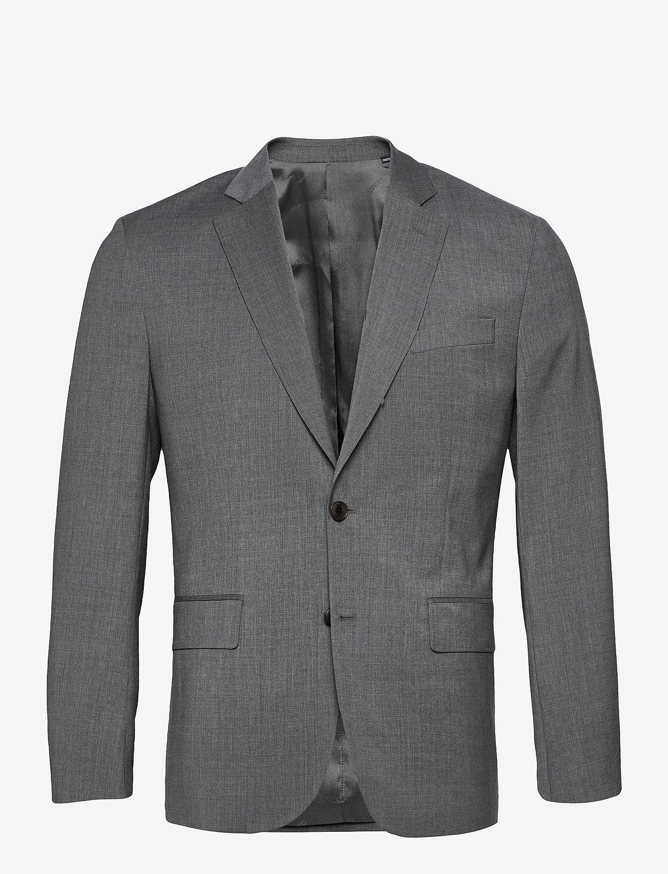 J. Lindeberg - Hopper U Comfort Wool Blazer - single breasted blazers - stone grey - 1