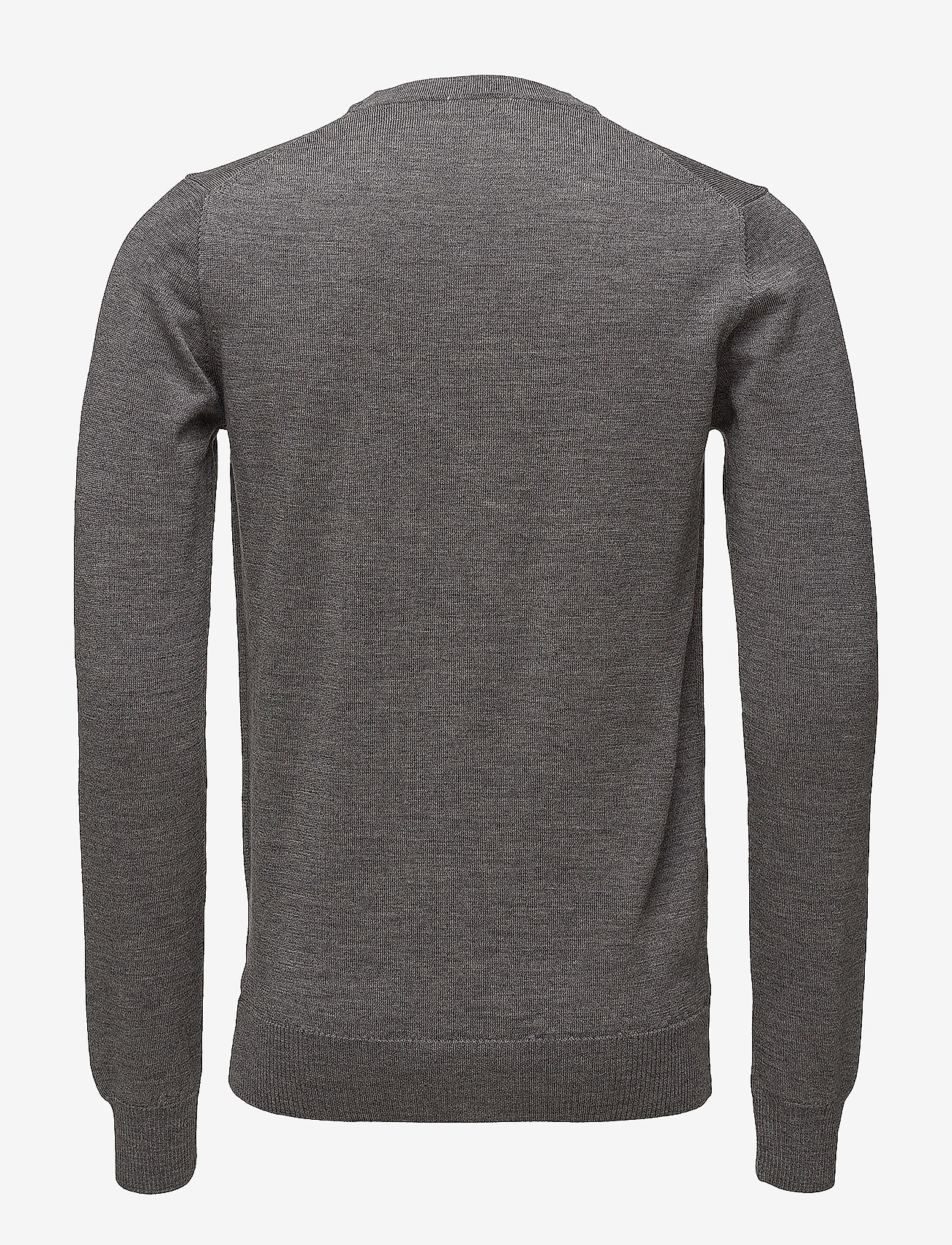 J. Lindeberg - Lyle True Merino - basic-strickmode - grey melange - 1
