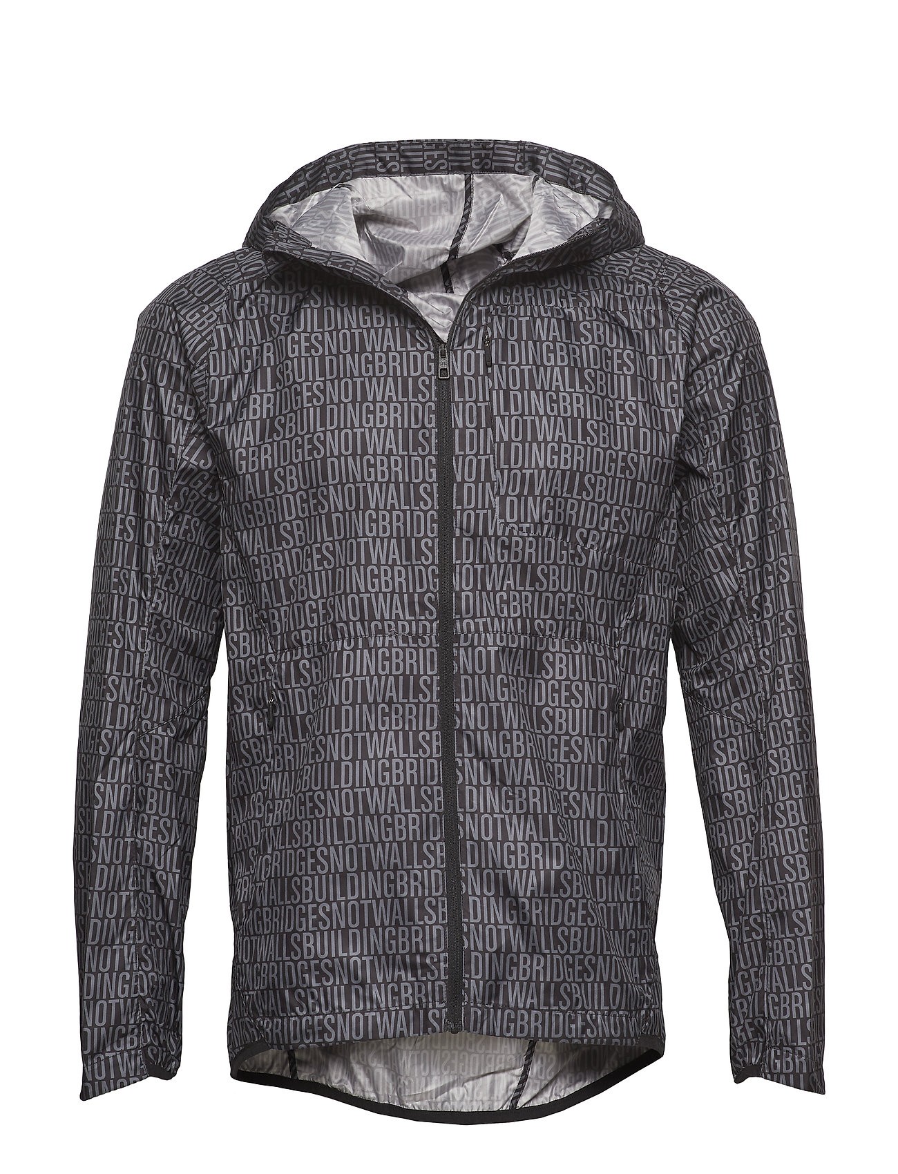 J. Lindeberg M Hooded Wind Jkt Str WindPro - BLACK BUILDNING BRIDGES EMB. P